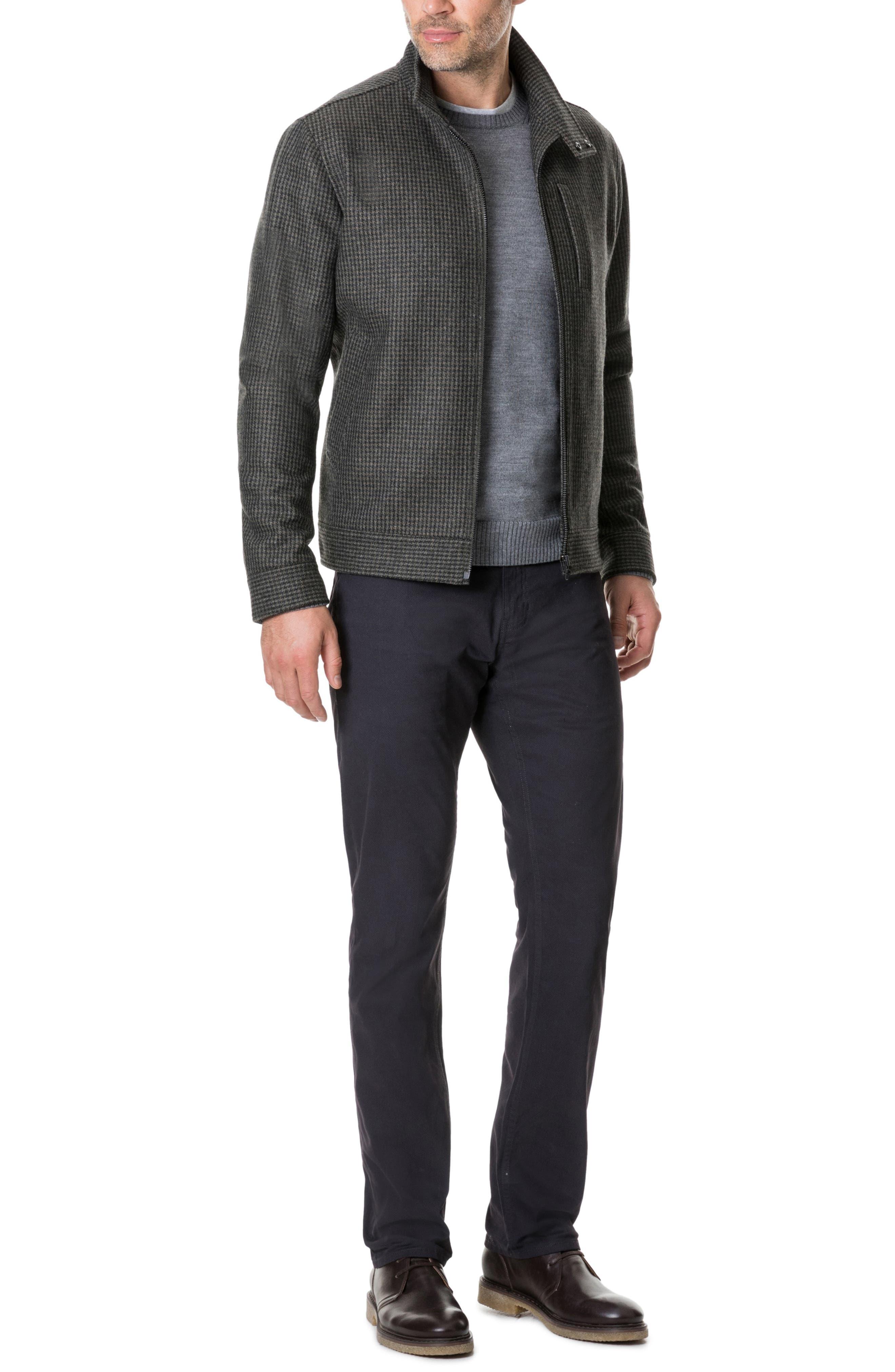 Oyster Cove Regular Fit Wool Blend Jacket,                             Alternate thumbnail 5, color,                             OLIVE