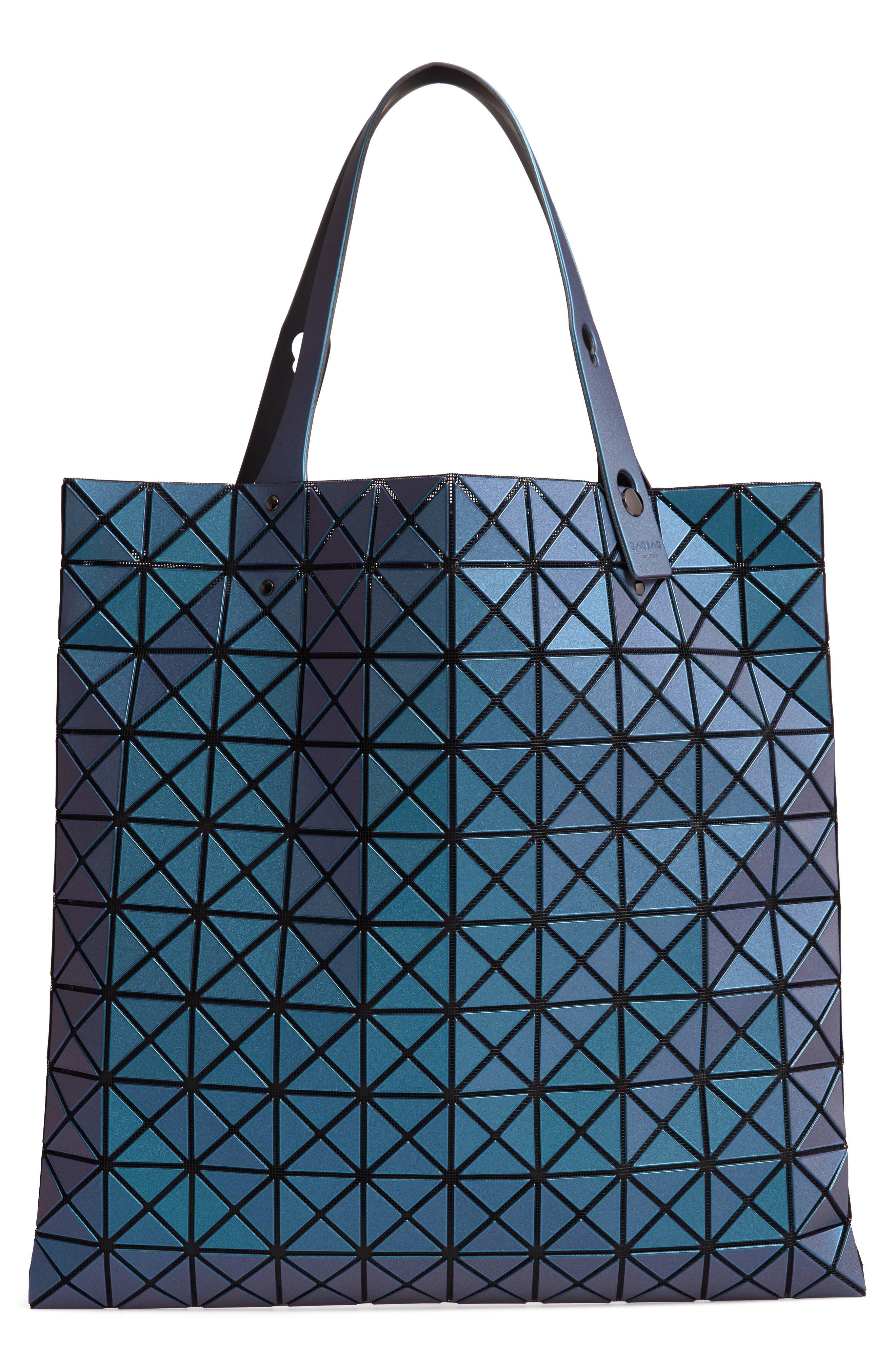 Prism Metallic Tote Bag,                         Main,                         color, BLUE