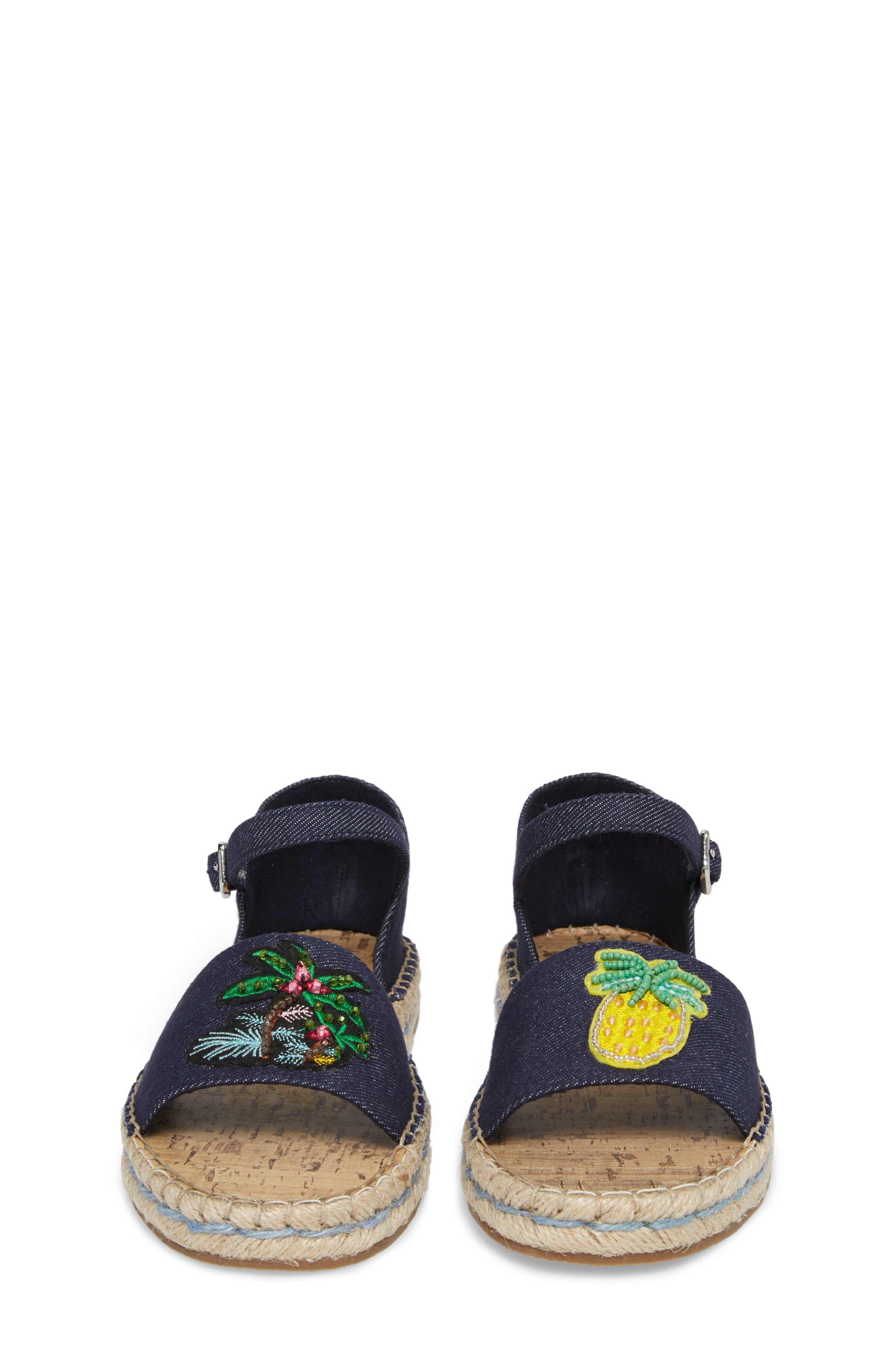 JLUAO Tropical Embellished Sandal,                             Alternate thumbnail 5, color,                             001