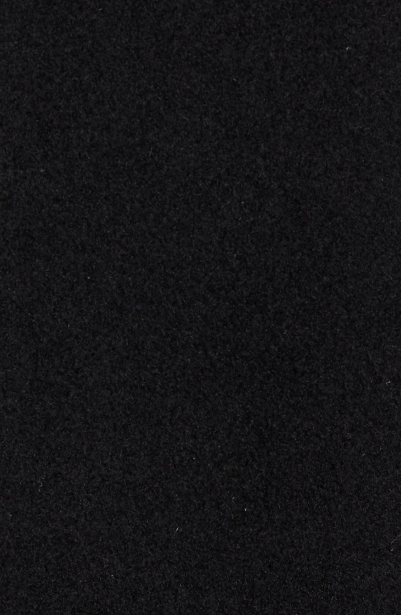 Italian Wool Blend Overcoat,                             Alternate thumbnail 8, color,                             BLACK
