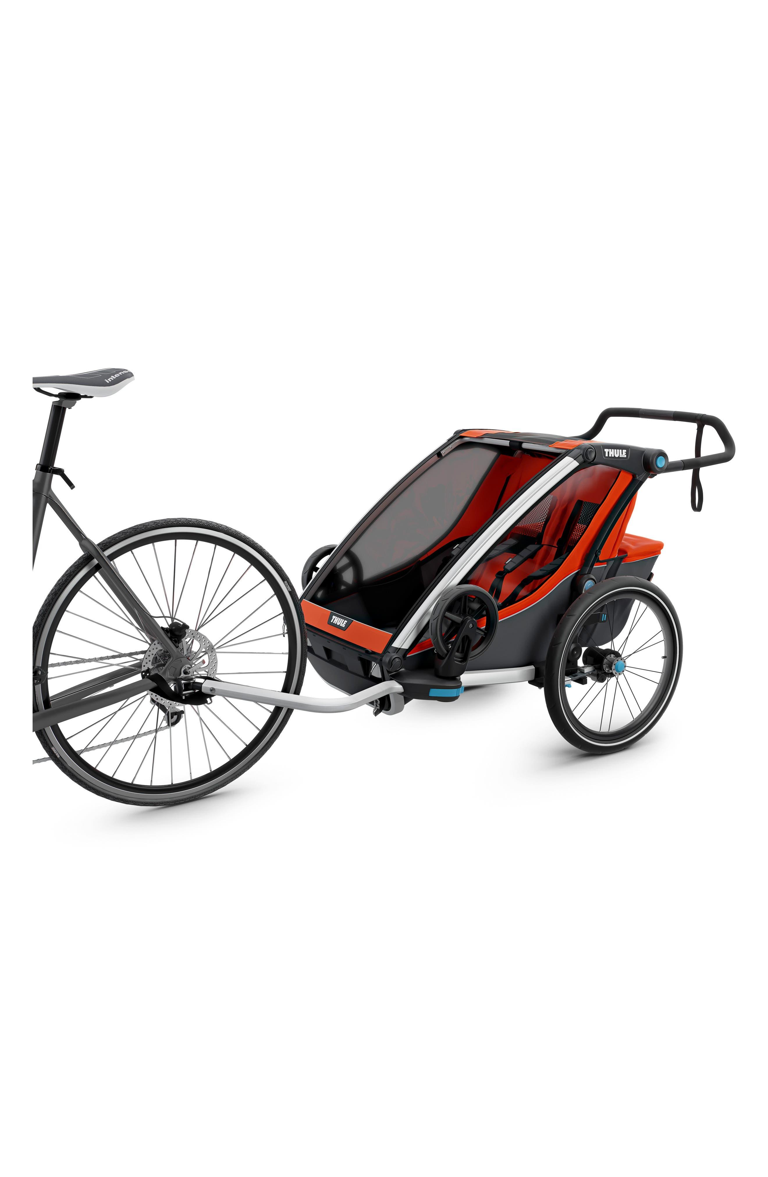 Chariot Cross 2 Multisport Double Cycle Trailer/Stroller,                             Alternate thumbnail 3, color,                             ROARANGE