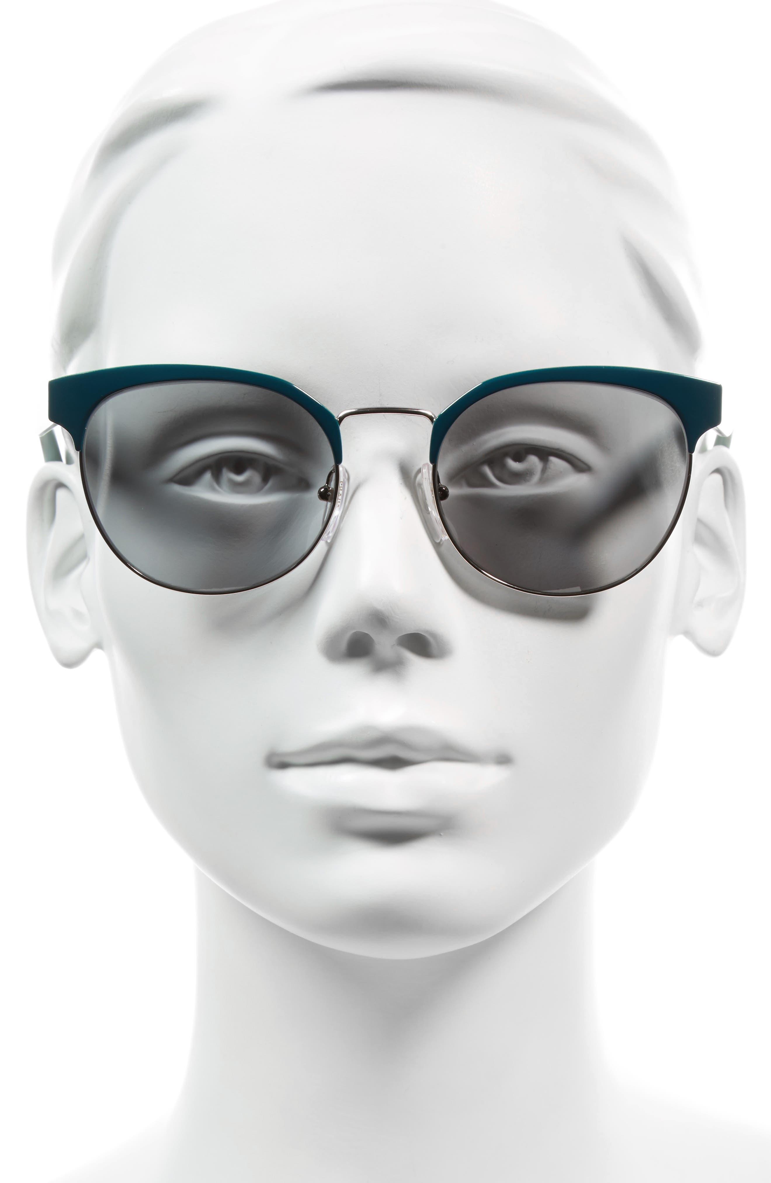 54mm Gradient Round Sunglasses,                             Alternate thumbnail 6, color,
