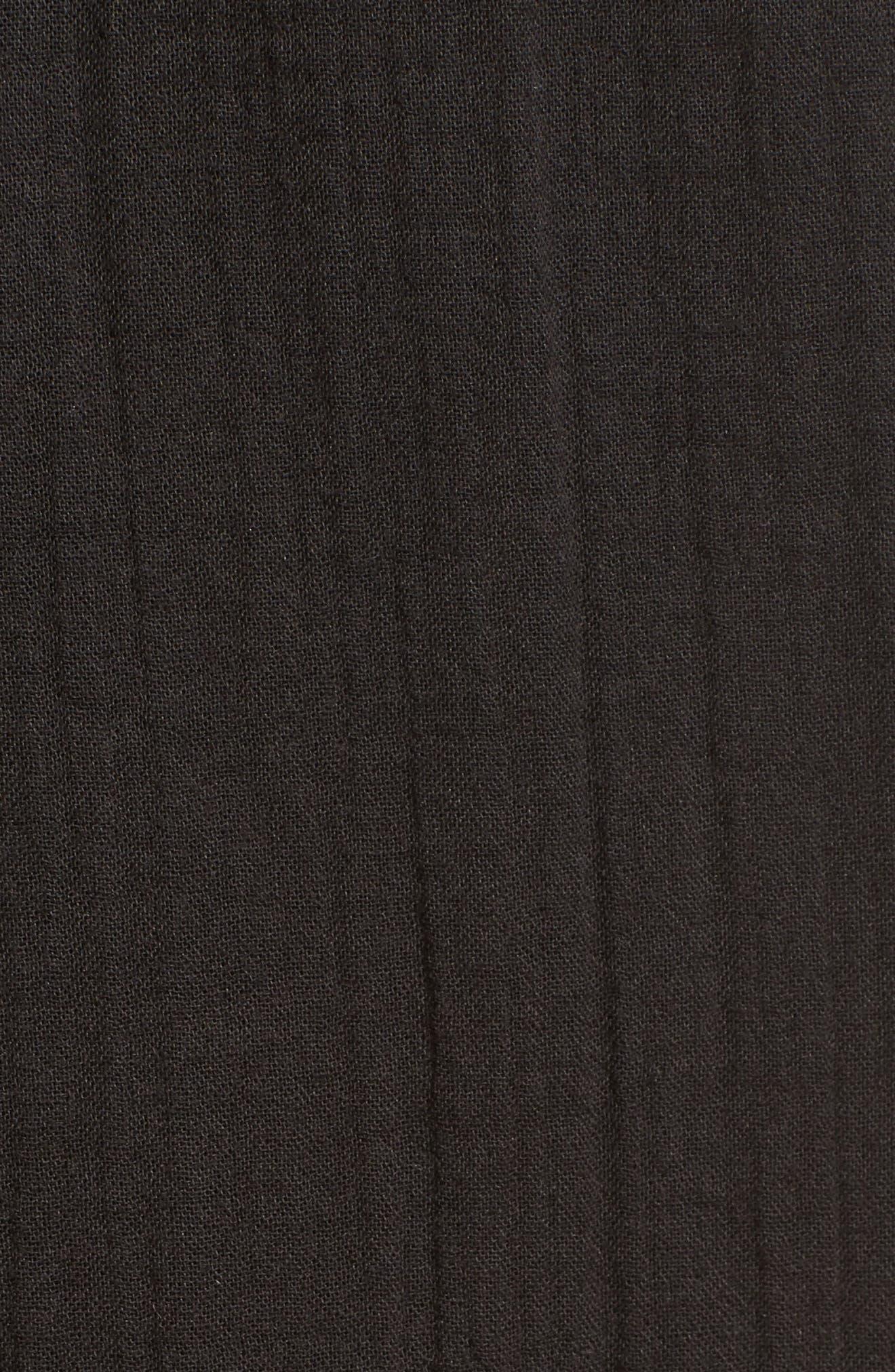 Organic Cotton Crop Pants,                             Alternate thumbnail 5, color,                             001