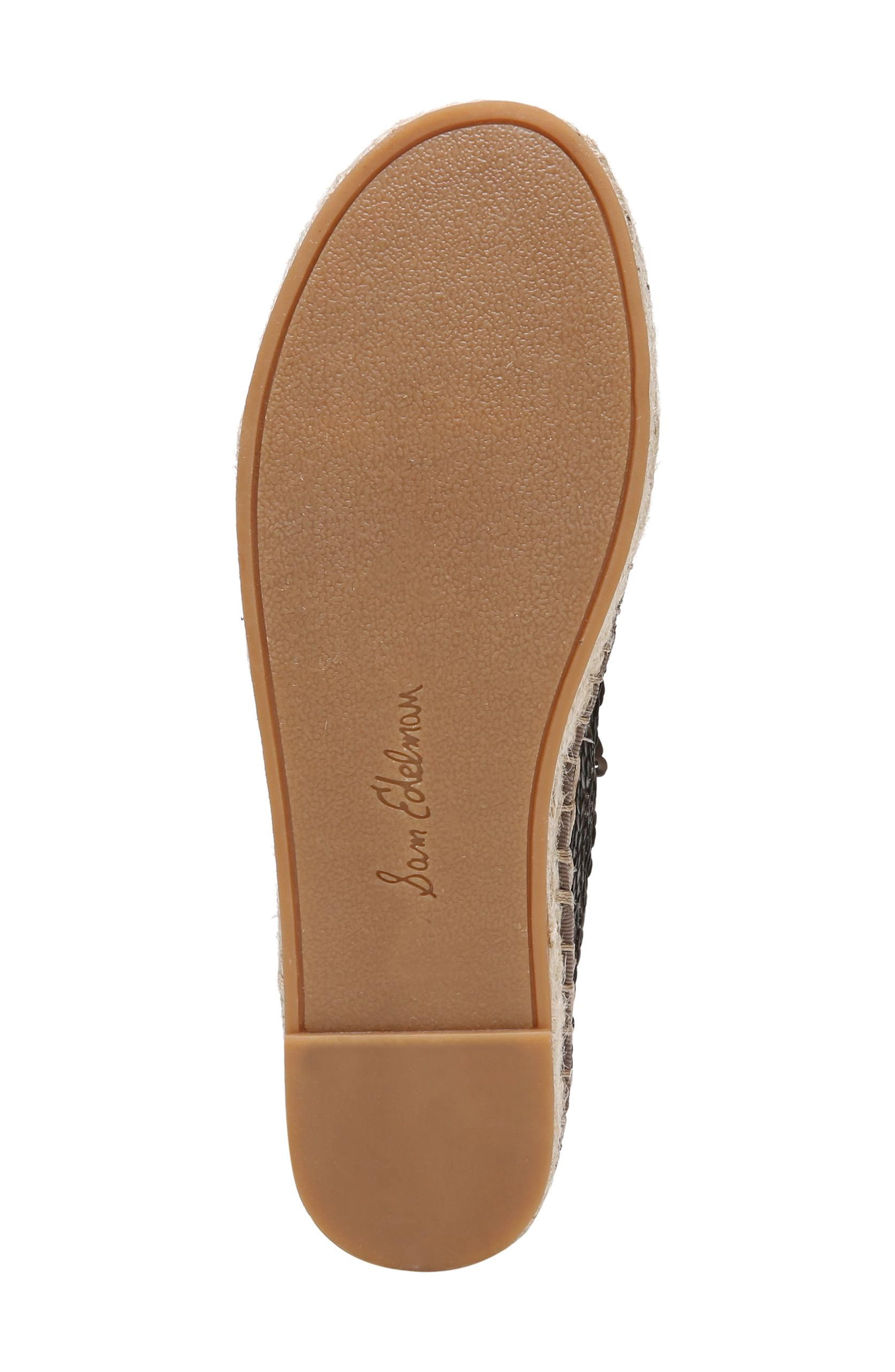 'Carrin' Espadrille Flat,                             Alternate thumbnail 6, color,                             PEWTER SEQUINS