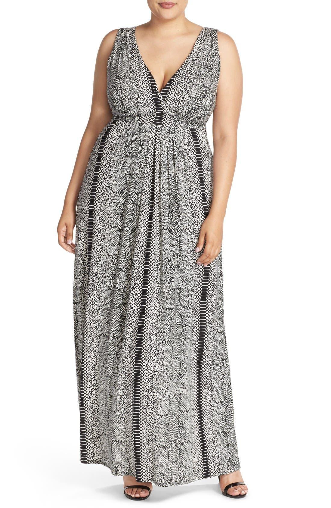 Chloe Empire Waist Maxi Dress,                             Main thumbnail 2, color,