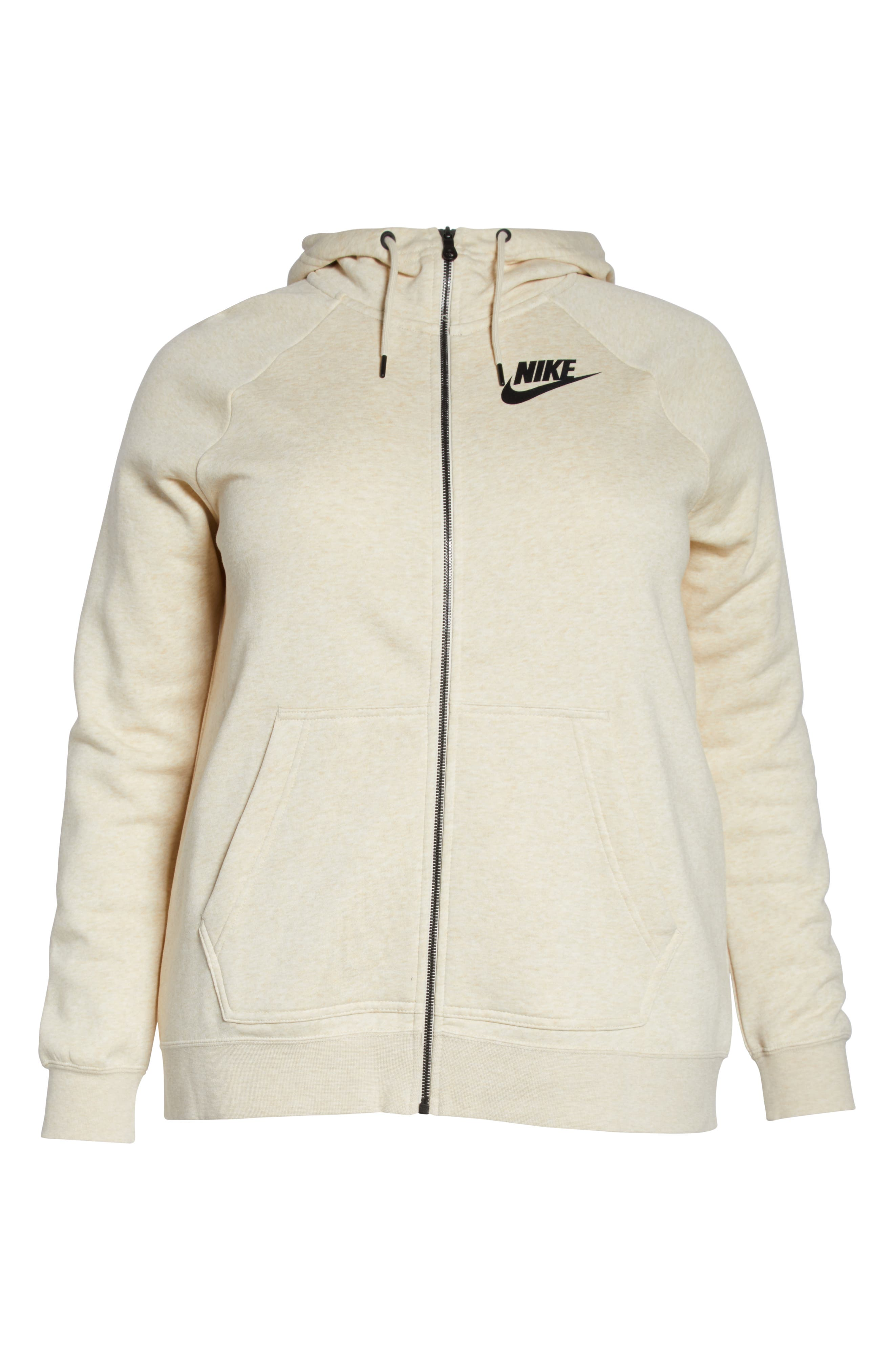 NSW Rally Hooded Jacket,                             Alternate thumbnail 7, color,                             LIGHT CREAM/ HEATHER/ BLACK