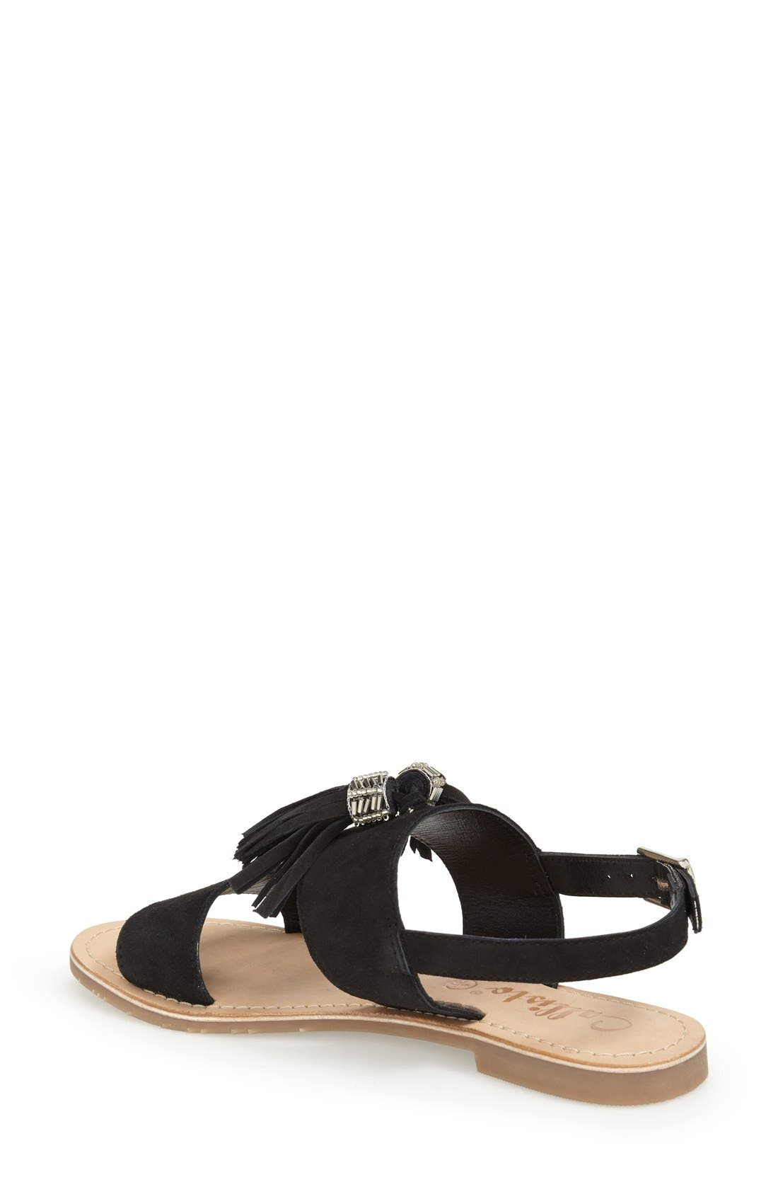 CALLISTO,                             'Anandi' Tassel Flat Sandal,                             Alternate thumbnail 2, color,                             001