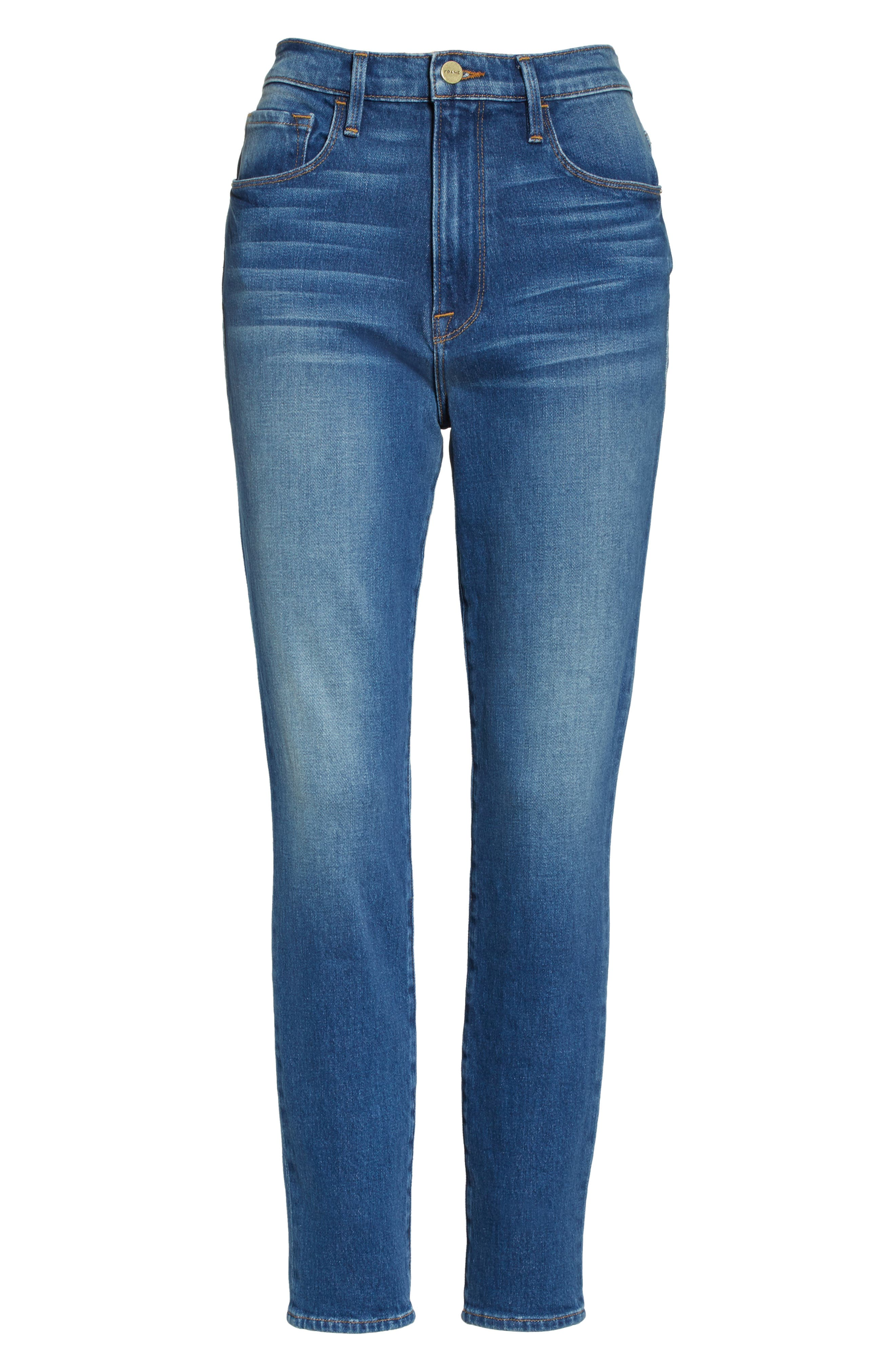 Ali High Waist Skinny Cigarette Jeans,                             Alternate thumbnail 6, color,                             421