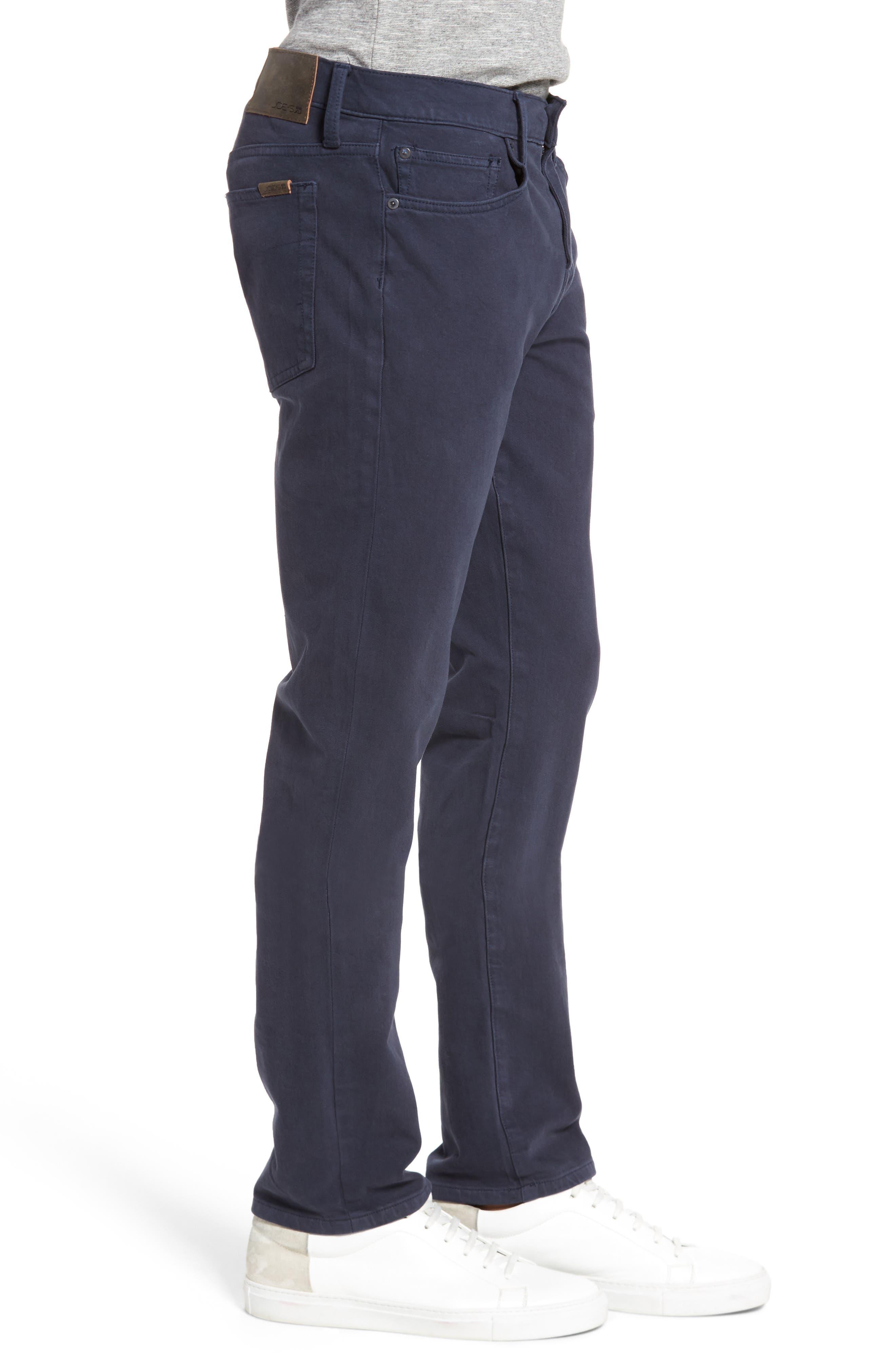 Kinetic Slim Fit Twill Pants,                             Alternate thumbnail 3, color,                             NAVY