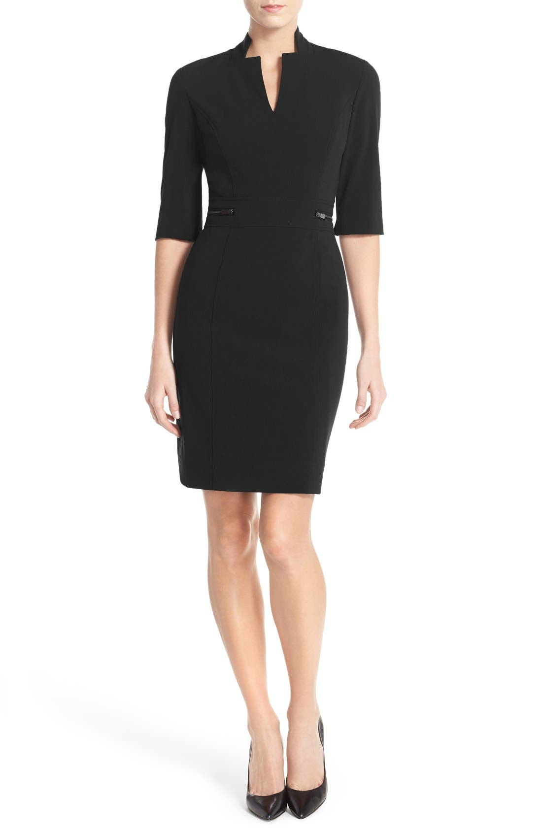 Sheath Dress,                             Alternate thumbnail 3, color,                             011