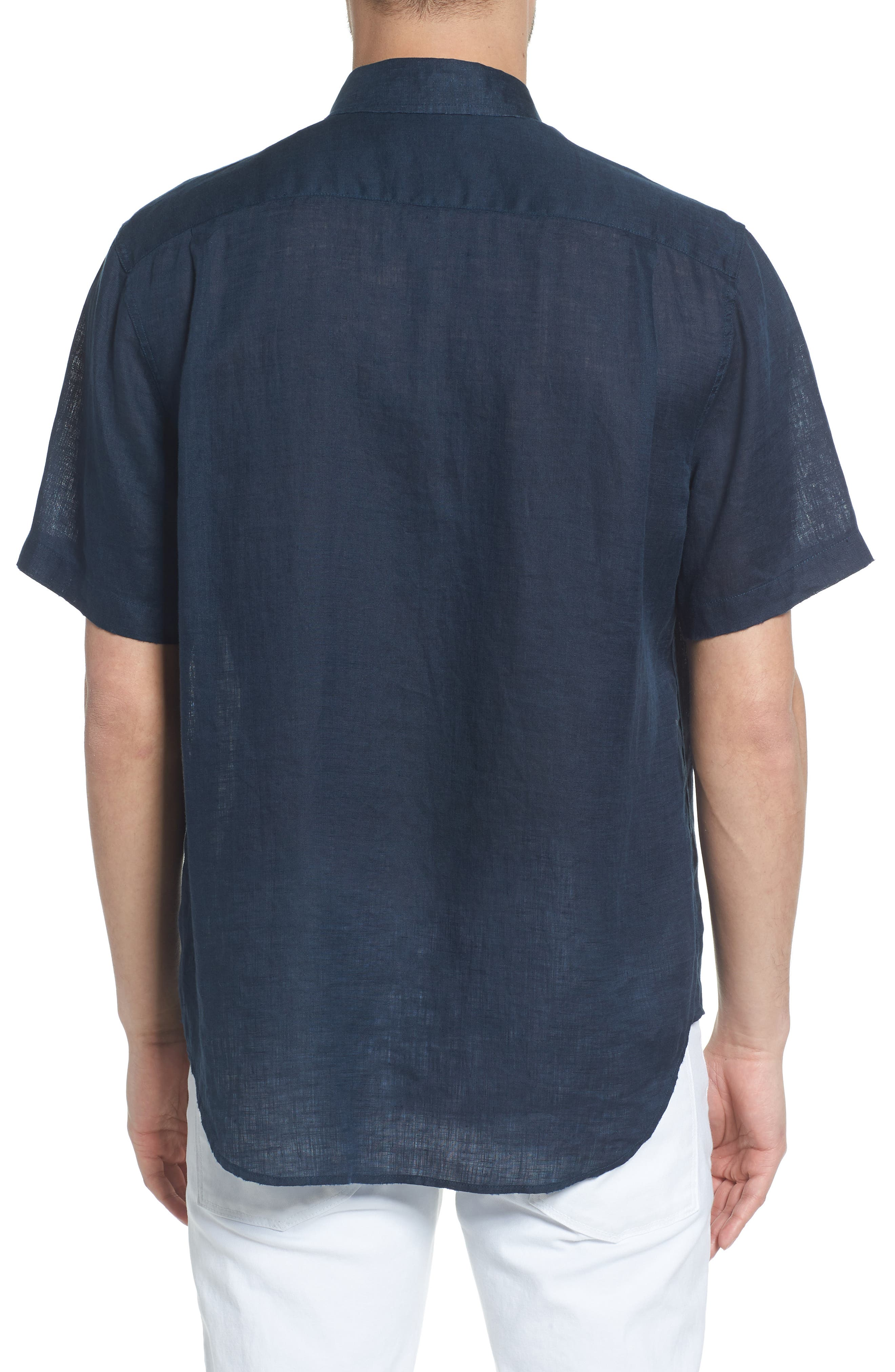 Classic Fit Washed Short Sleeve Sport Shirt,                             Alternate thumbnail 2, color,                             464
