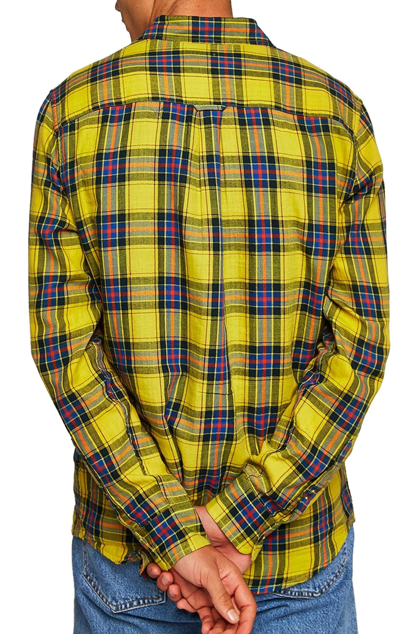Check Shirt,                             Alternate thumbnail 3, color,                             YELLOW