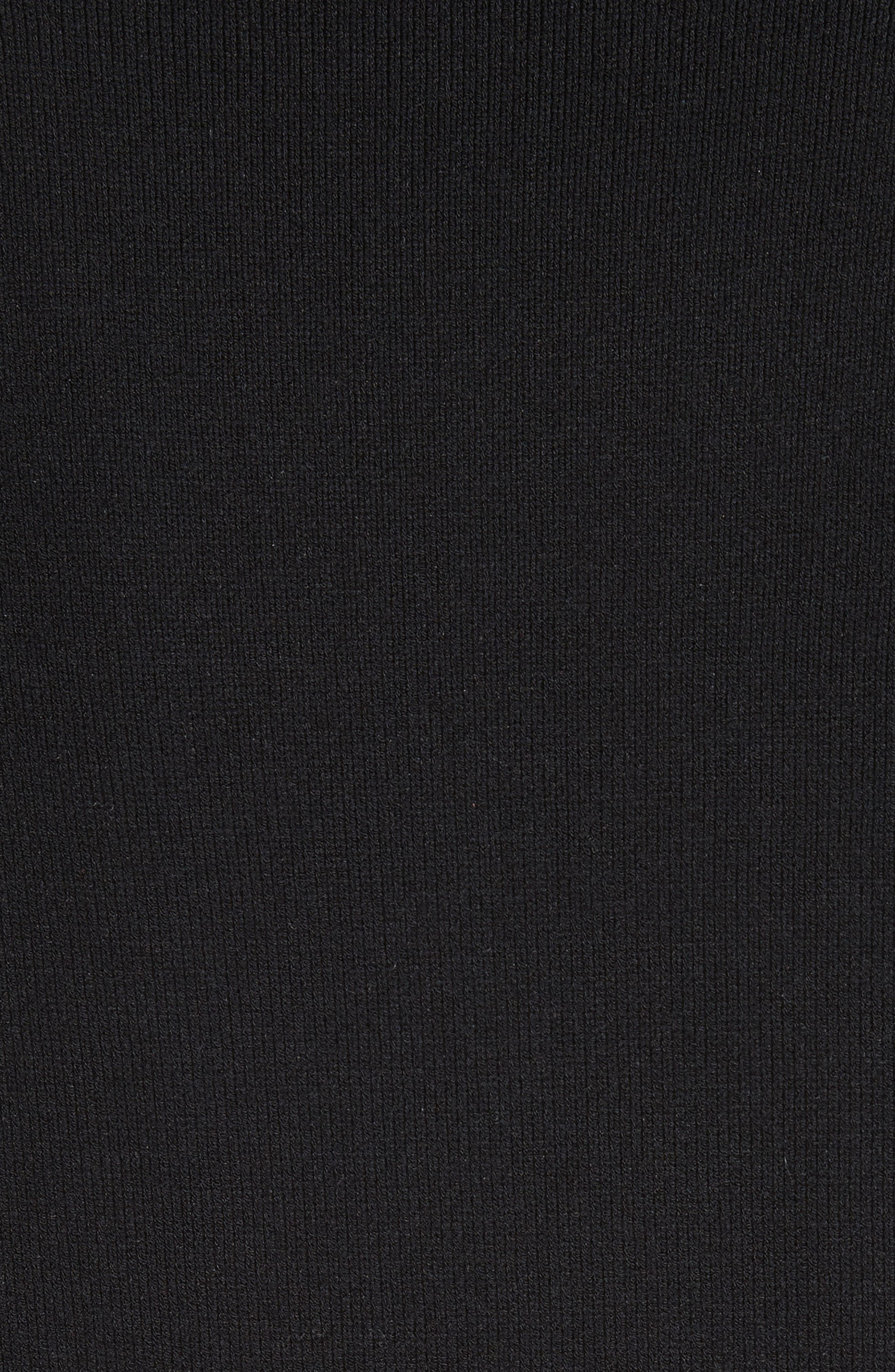 Cashmere Puff Shoulder Turtleneck Sweater,                             Alternate thumbnail 5, color,                             001