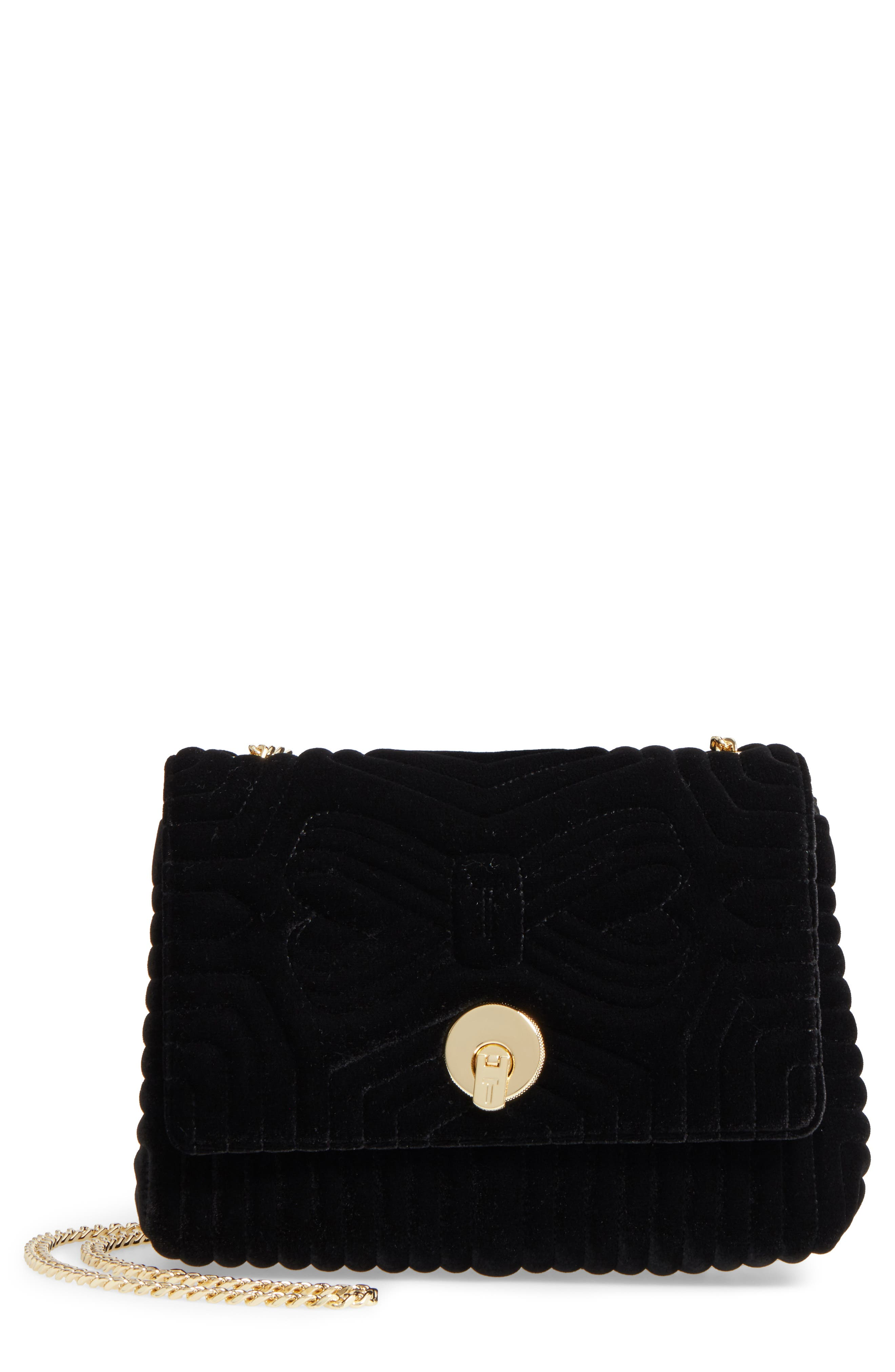 Quilted Velvet Crossbody Bag,                         Main,                         color,