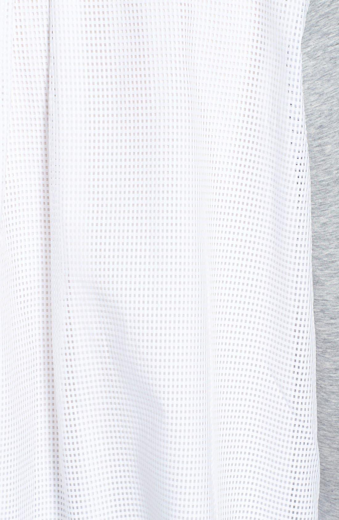 'Maglia Girocollo' Mixed Media Sweatshirt,                             Alternate thumbnail 6, color,                             021