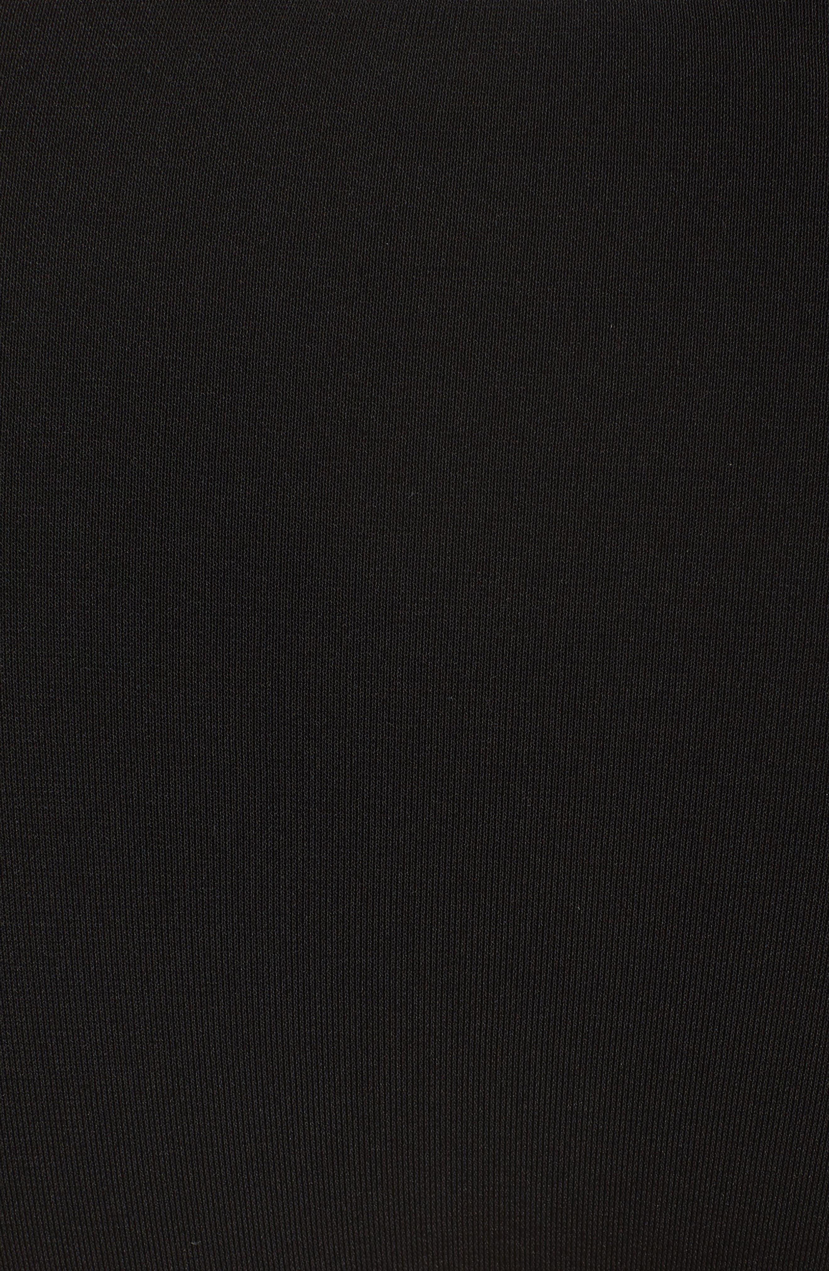 Lina Ruffle Bikini Bottoms,                             Alternate thumbnail 5, color,                             BLACK