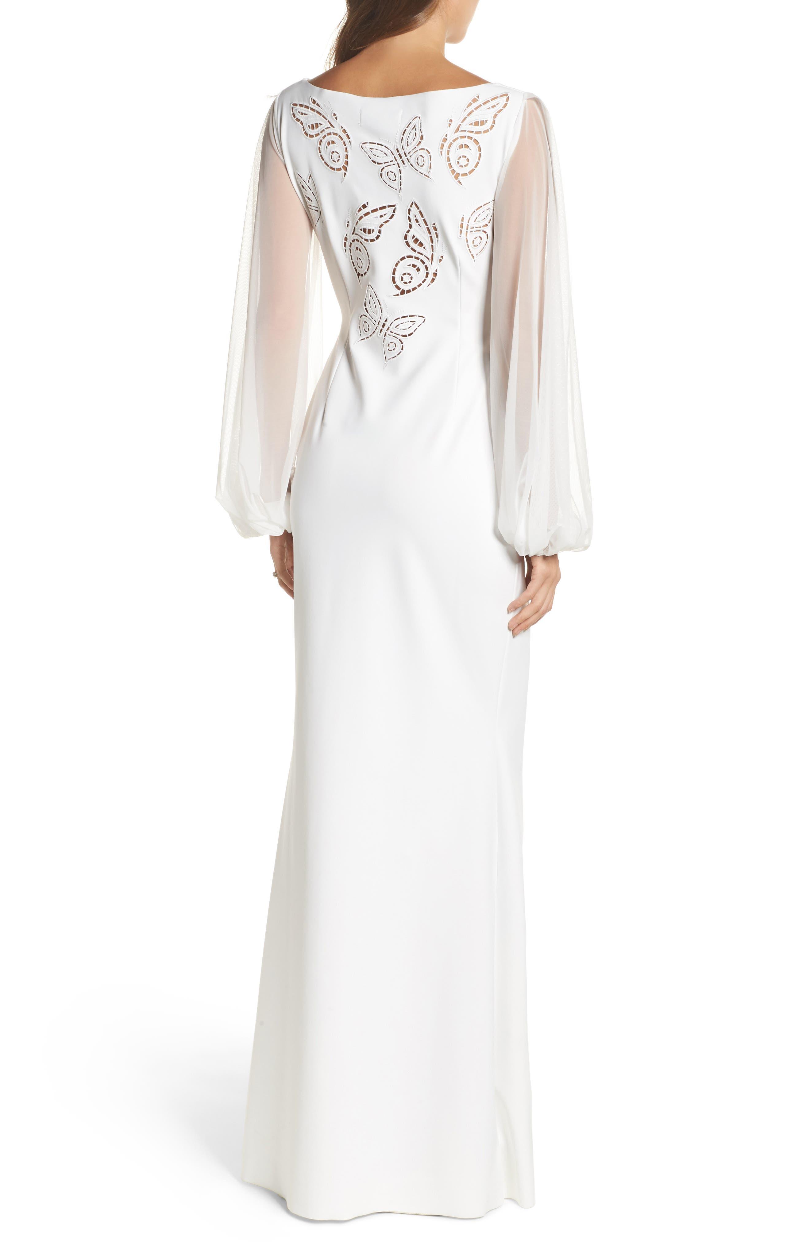 Dress Cutwork Back Gown,                             Alternate thumbnail 2, color,                             100