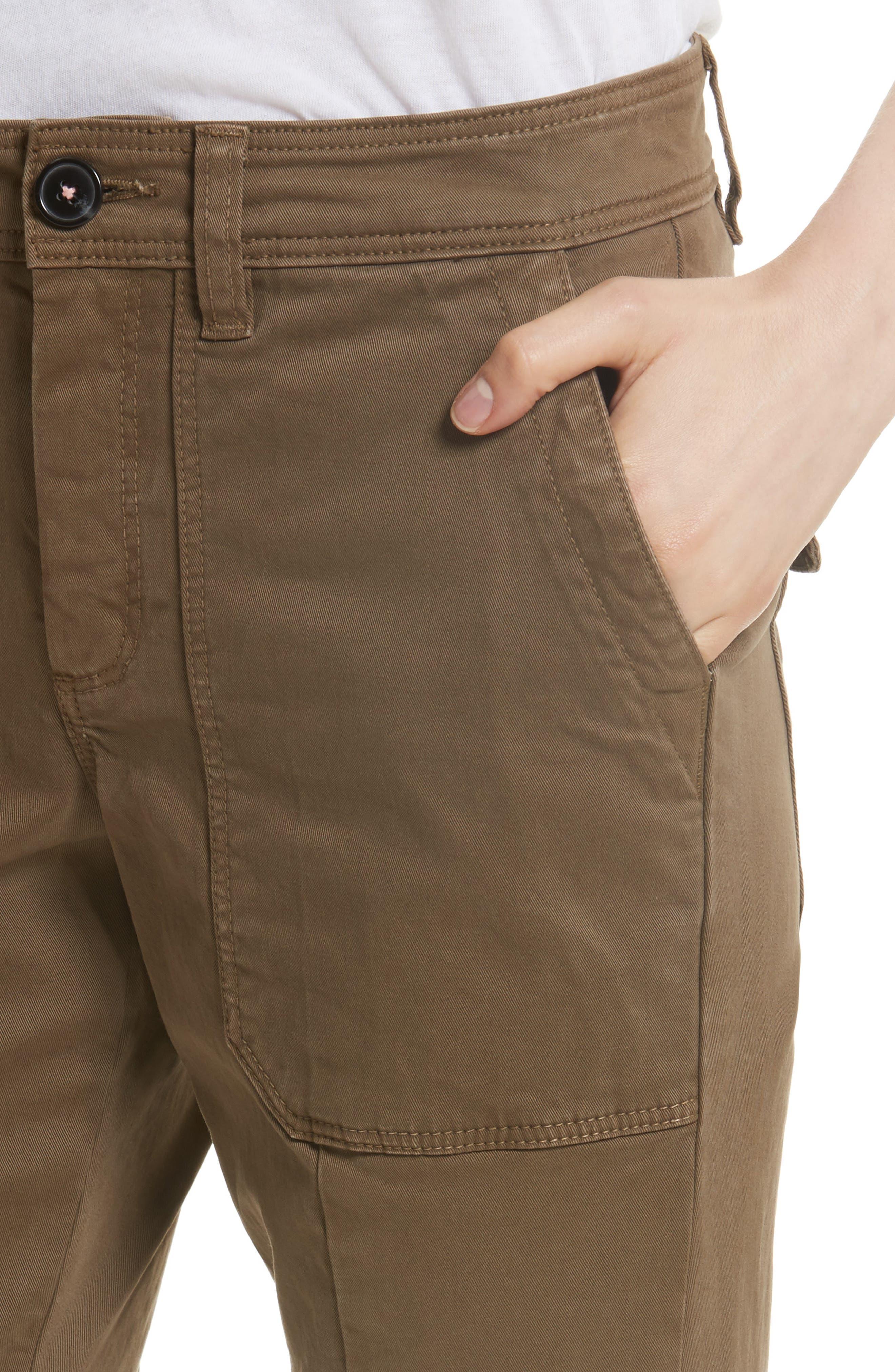Crop Twill Utility Pants,                             Alternate thumbnail 4, color,                             302