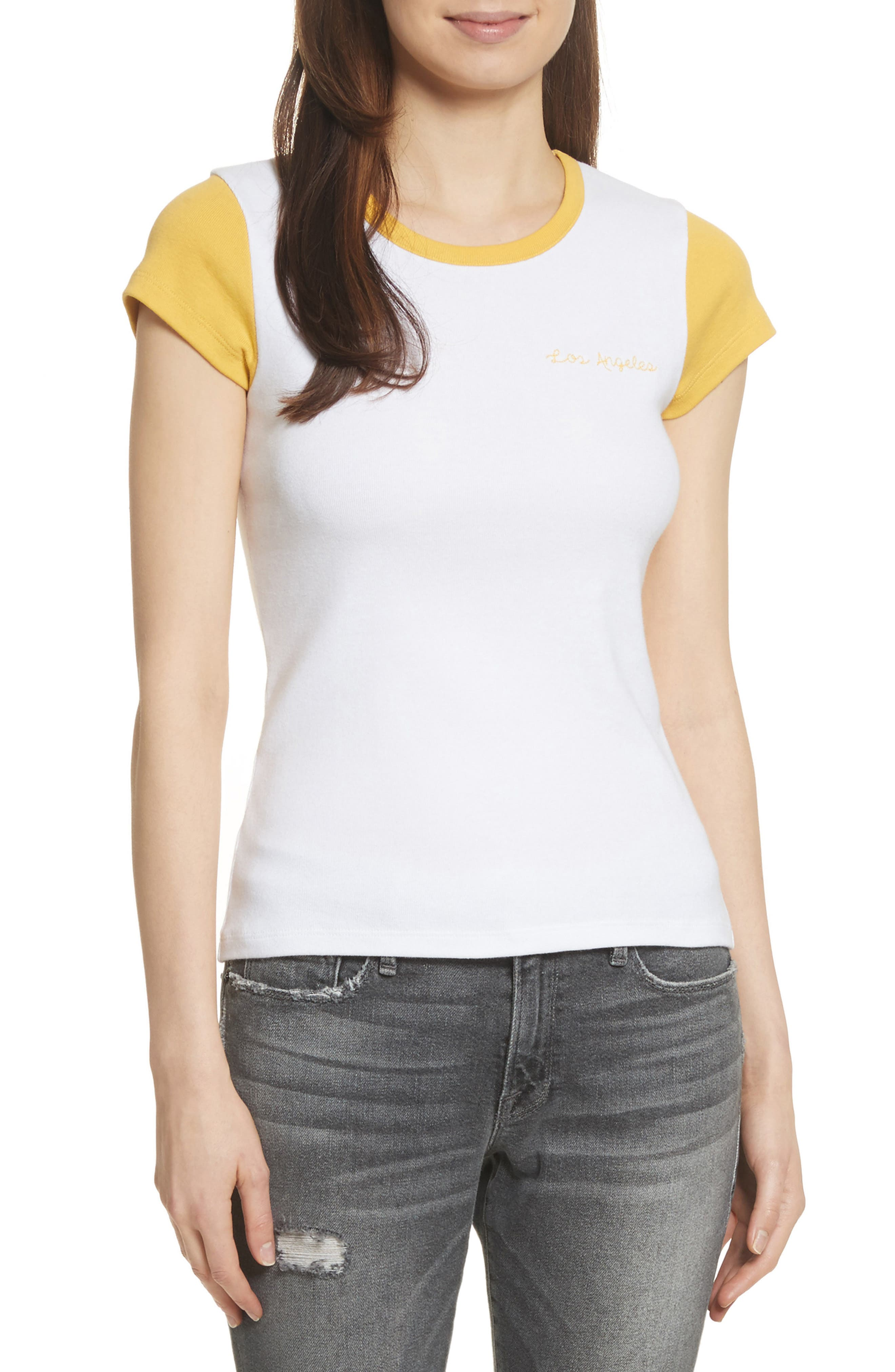 Colorblock Tee,                         Main,                         color,