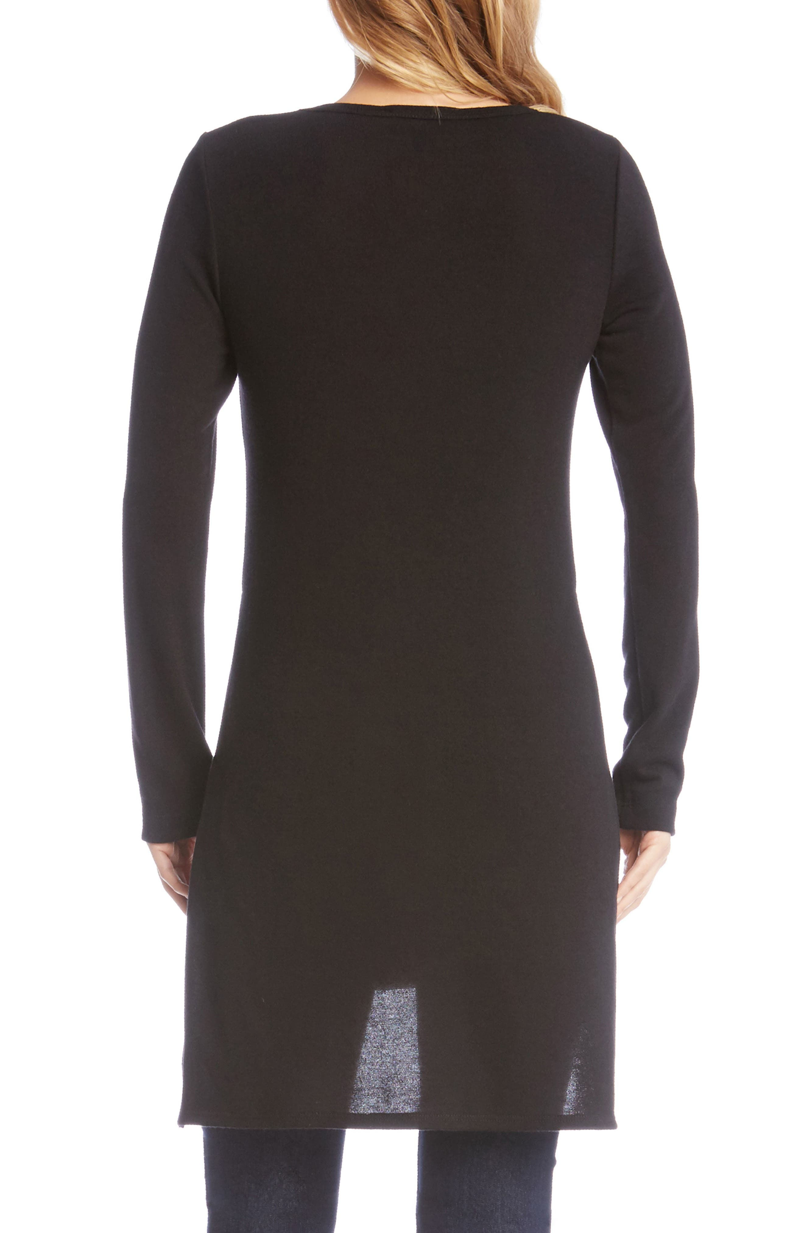 High/Low Sweater Tunic,                             Alternate thumbnail 2, color,                             001