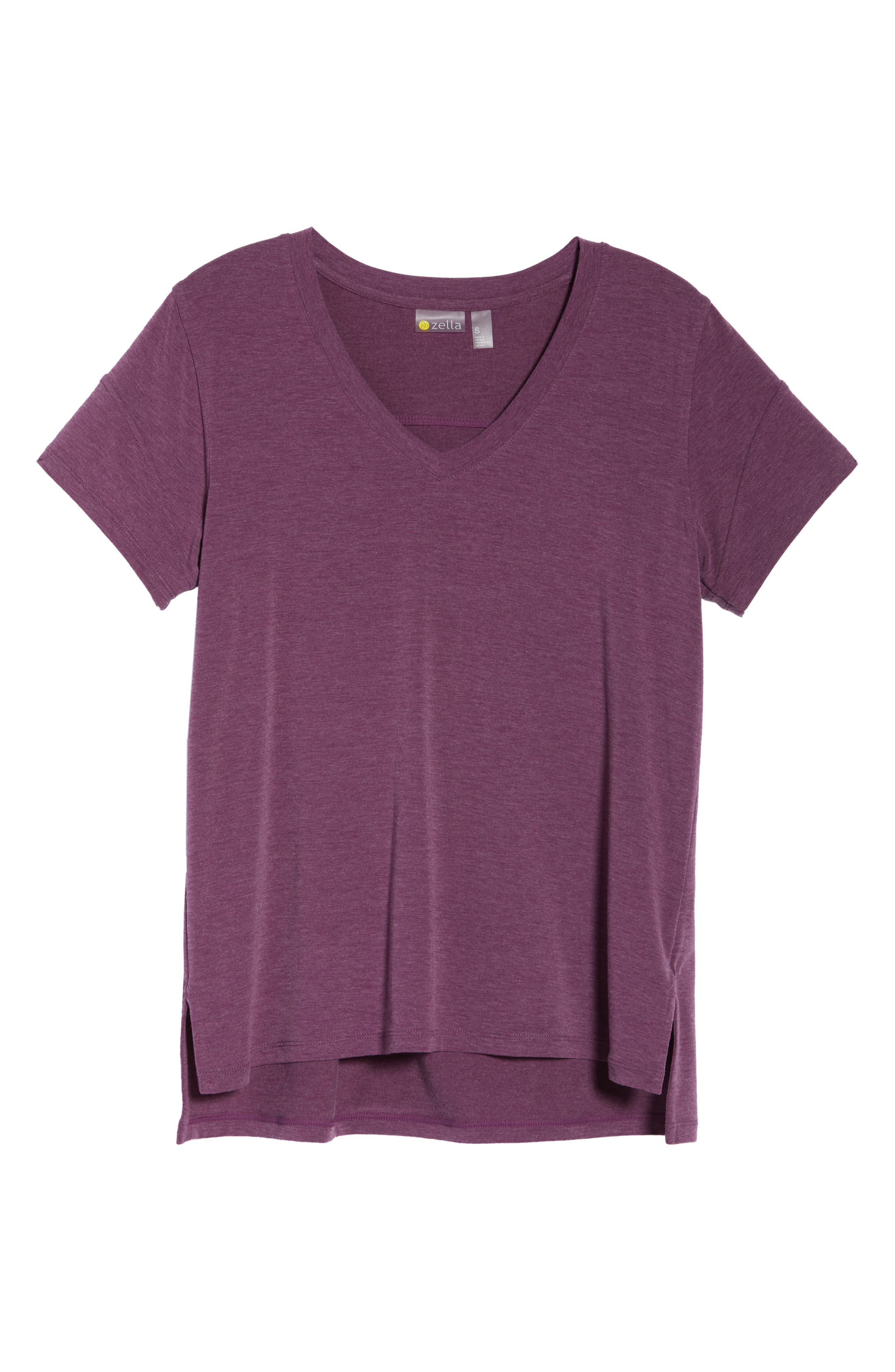 ZELLA,                             Ava Quick-Dry Tee,                             Alternate thumbnail 7, color,                             PURPLE ODYSSEY