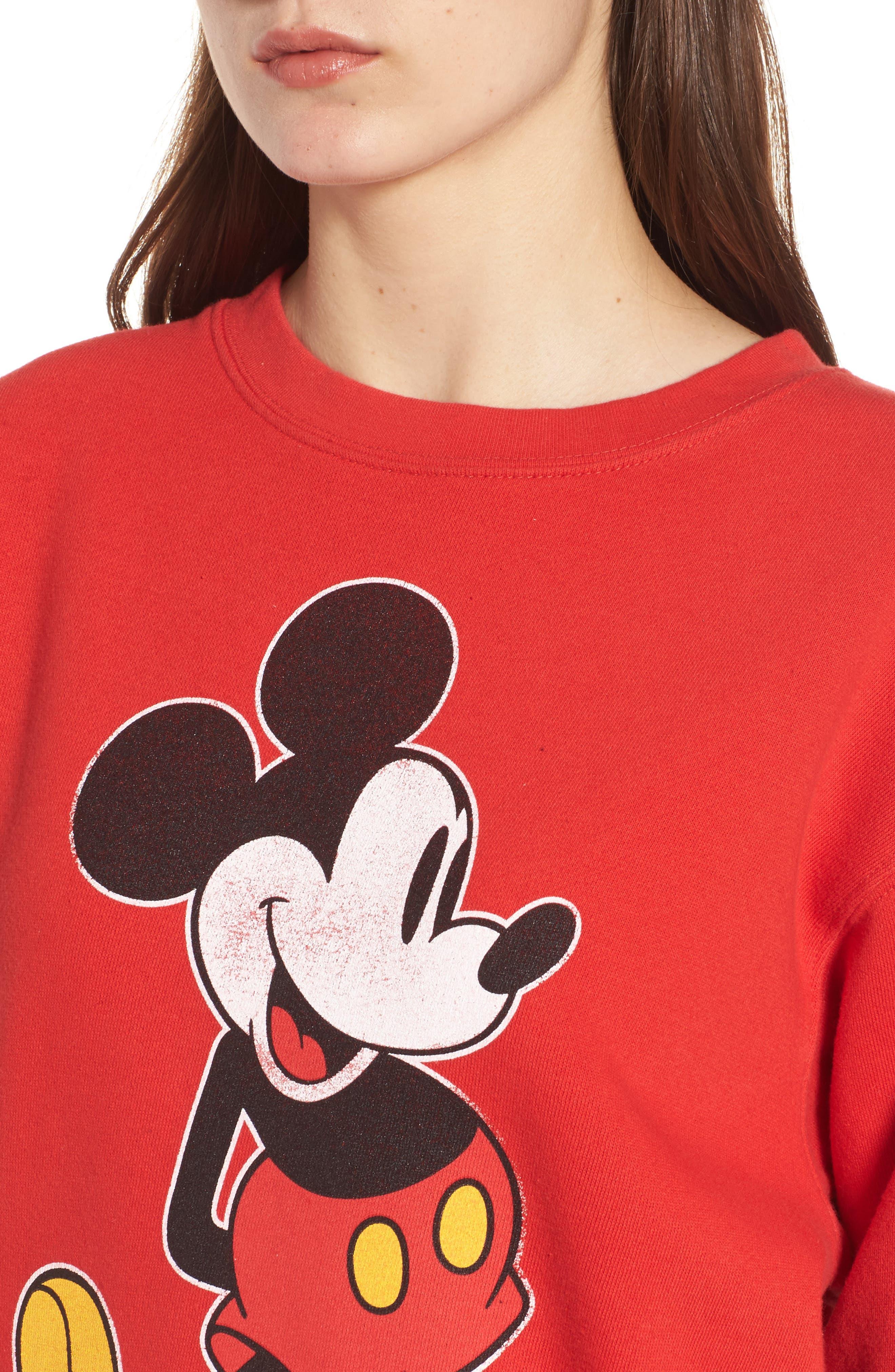 JUNK FOOD,                             Junkfood Disney<sup>®</sup> Classic Mickey Sweatshirt,                             Alternate thumbnail 4, color,                             600