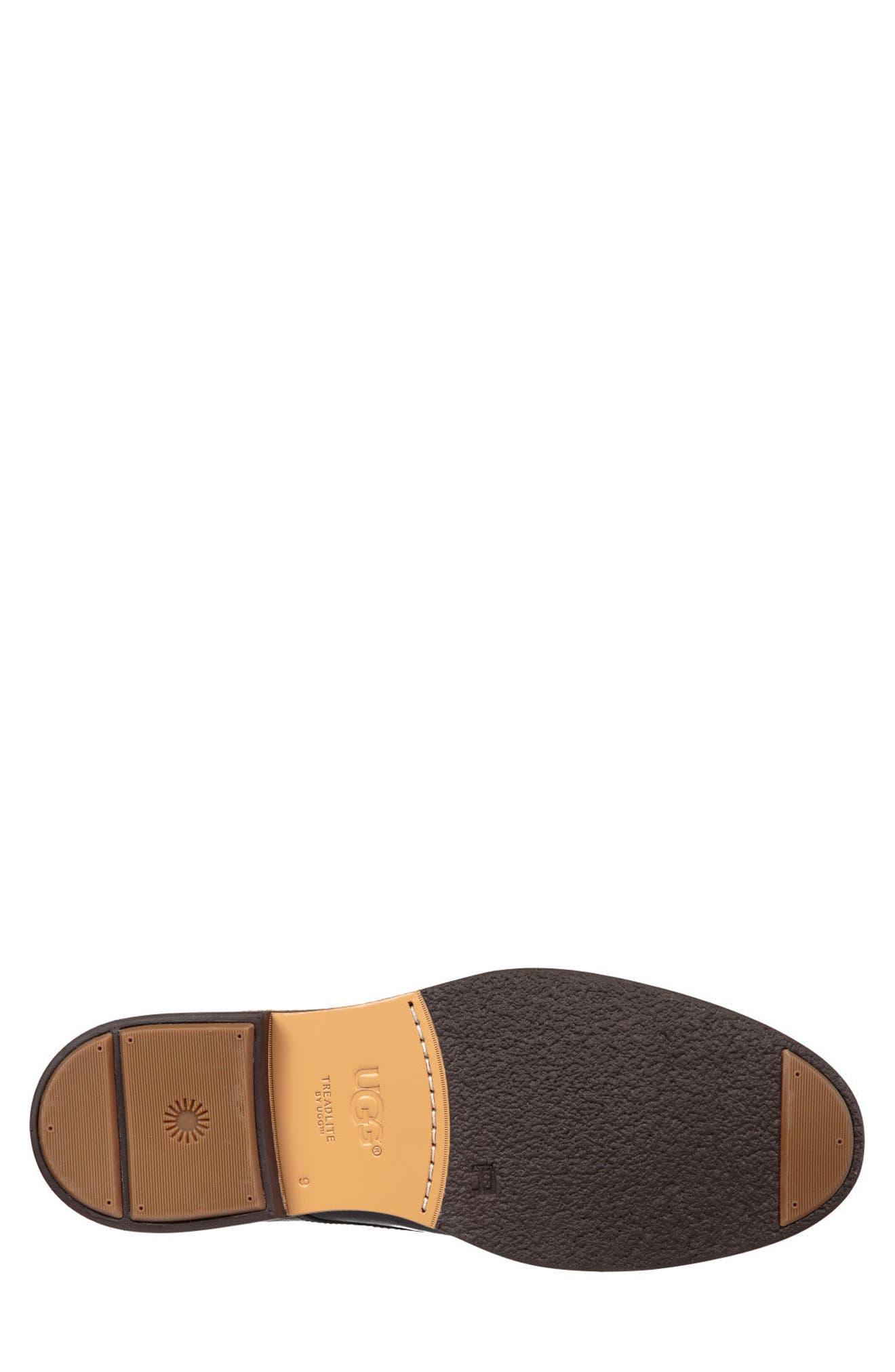 Jovin Buck Shoe,                             Alternate thumbnail 5, color,                             BLACK LEATHER/SUEDE