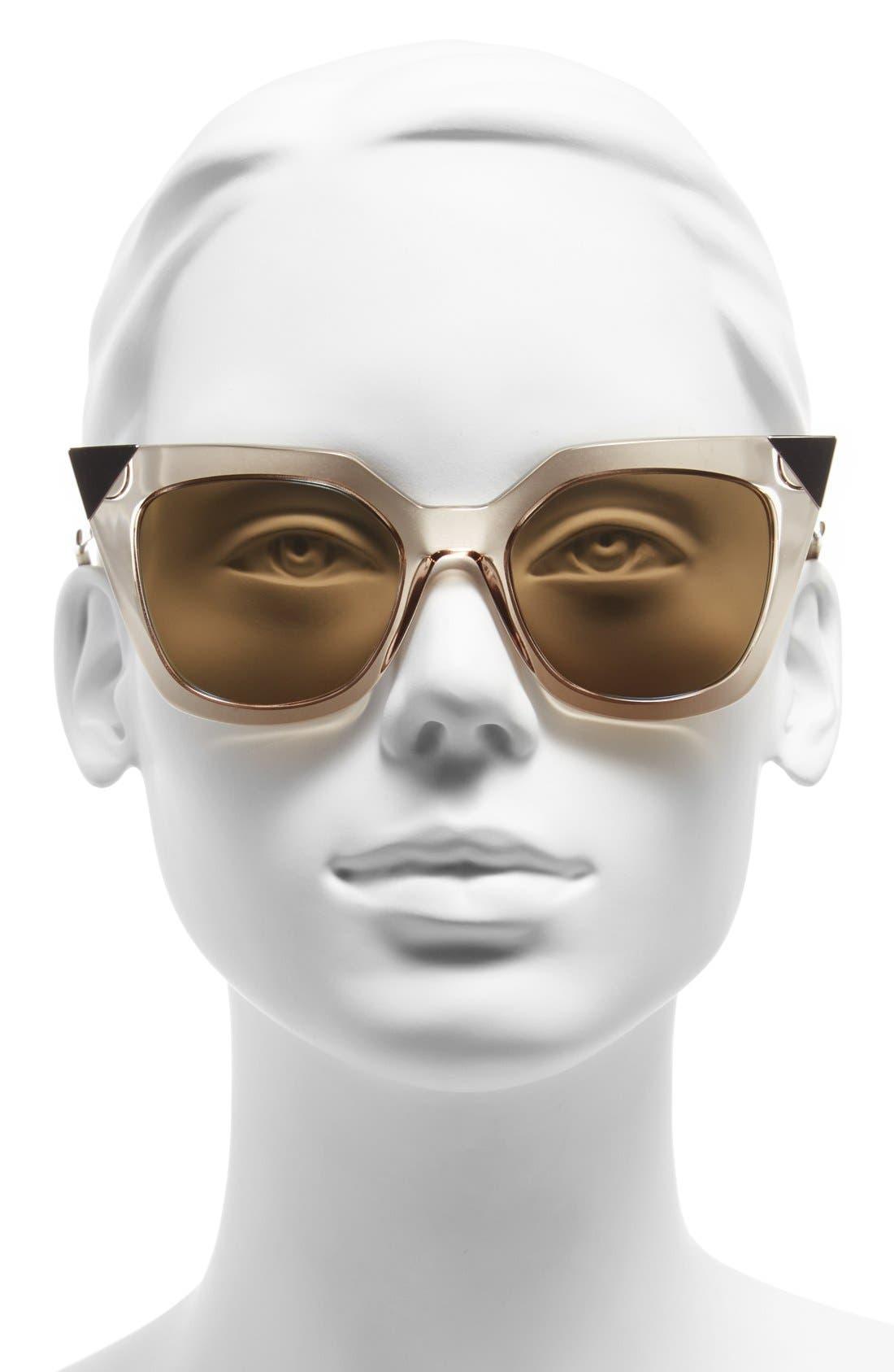 52mm Cat Eye Sunglasses,                             Alternate thumbnail 10, color,
