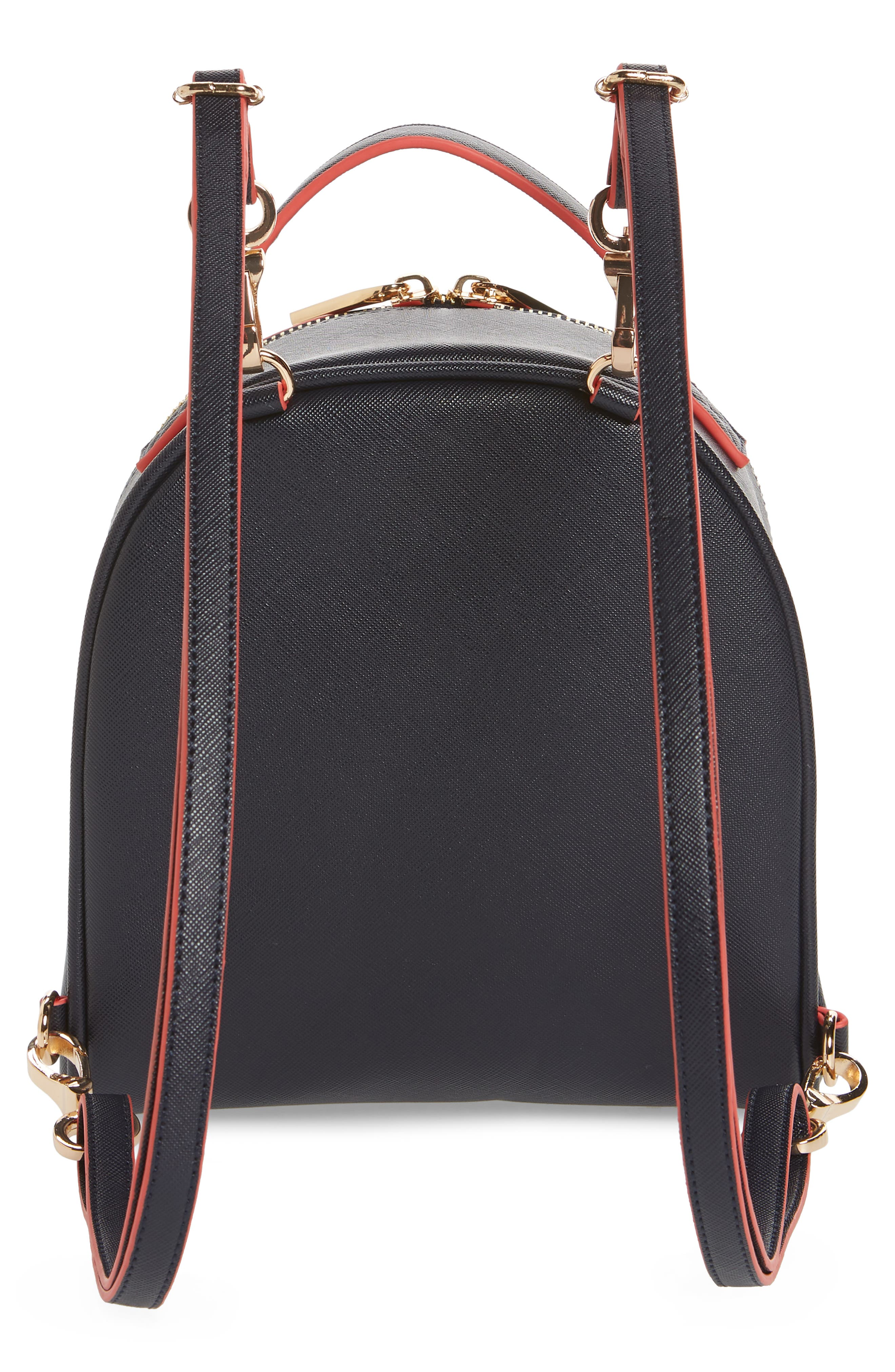 Annabelle Mini Faux Leather Backpack,                             Alternate thumbnail 3, color,                             490