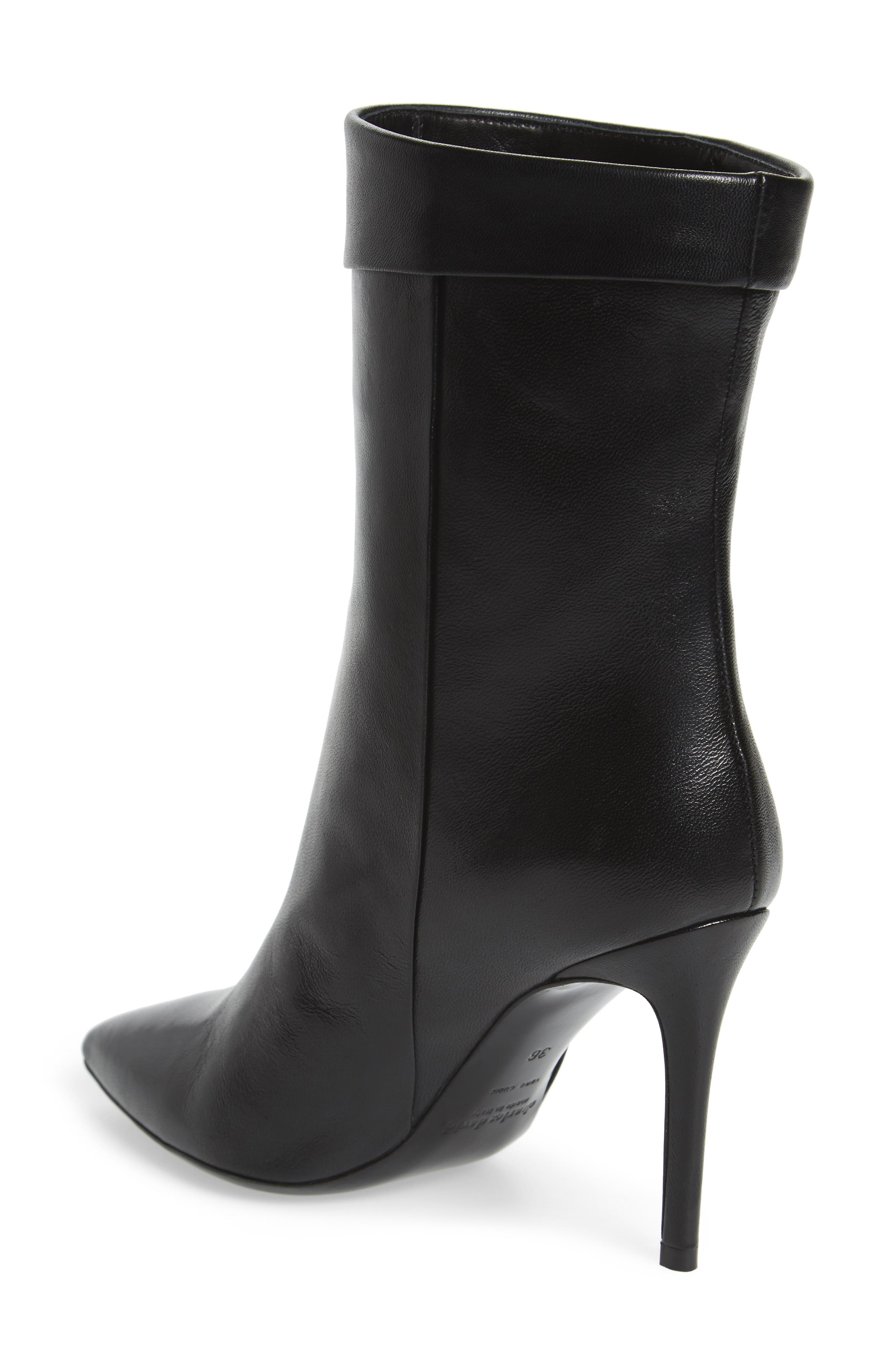 Sylvie Cuffed Pointy Toe Bootie,                             Alternate thumbnail 2, color,                             001