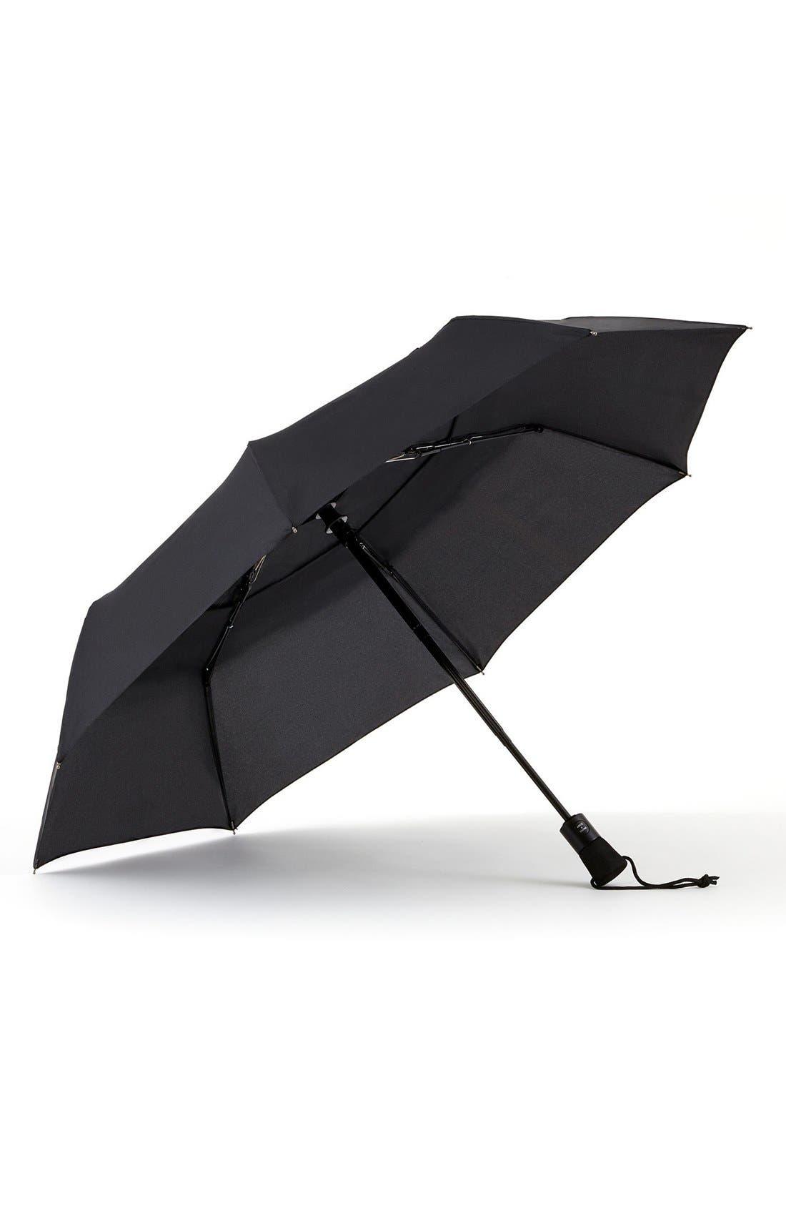 'WindPro<sup>®</sup>' Auto Open & Close Umbrella,                             Alternate thumbnail 2, color,                             BLACK
