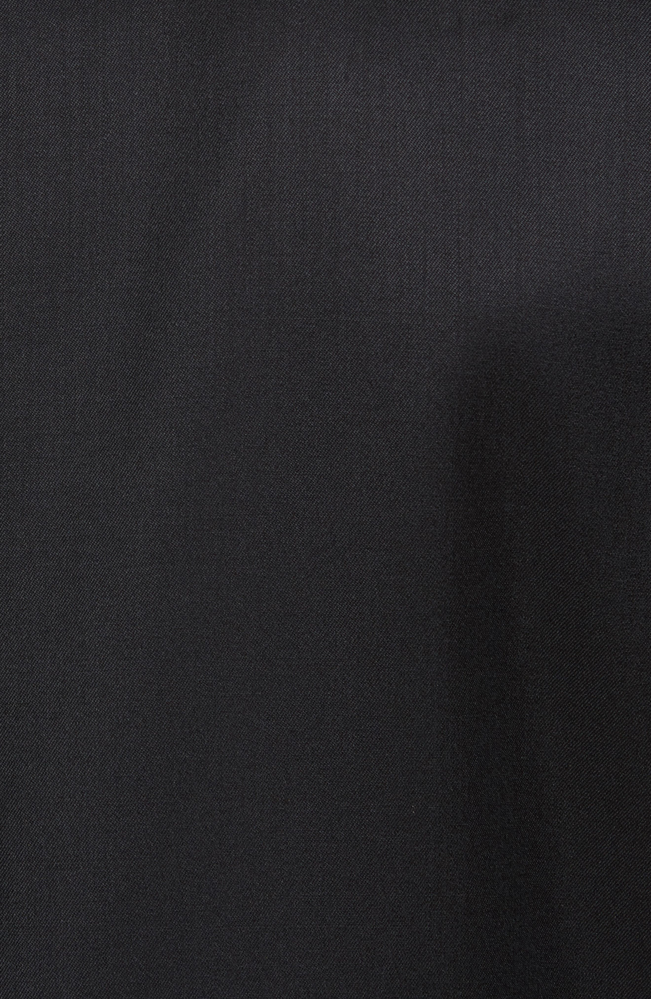 Trim Fit Wool & Mohair Dinner Jacket,                             Alternate thumbnail 6, color,                             BLACK