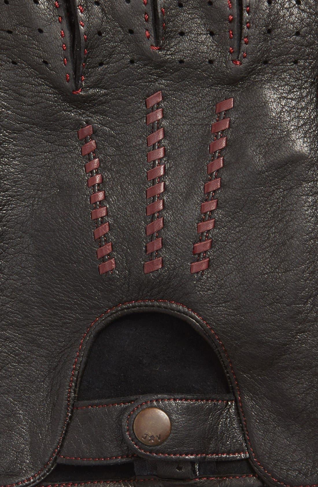 Deerskin Driving Gloves,                             Alternate thumbnail 6, color,