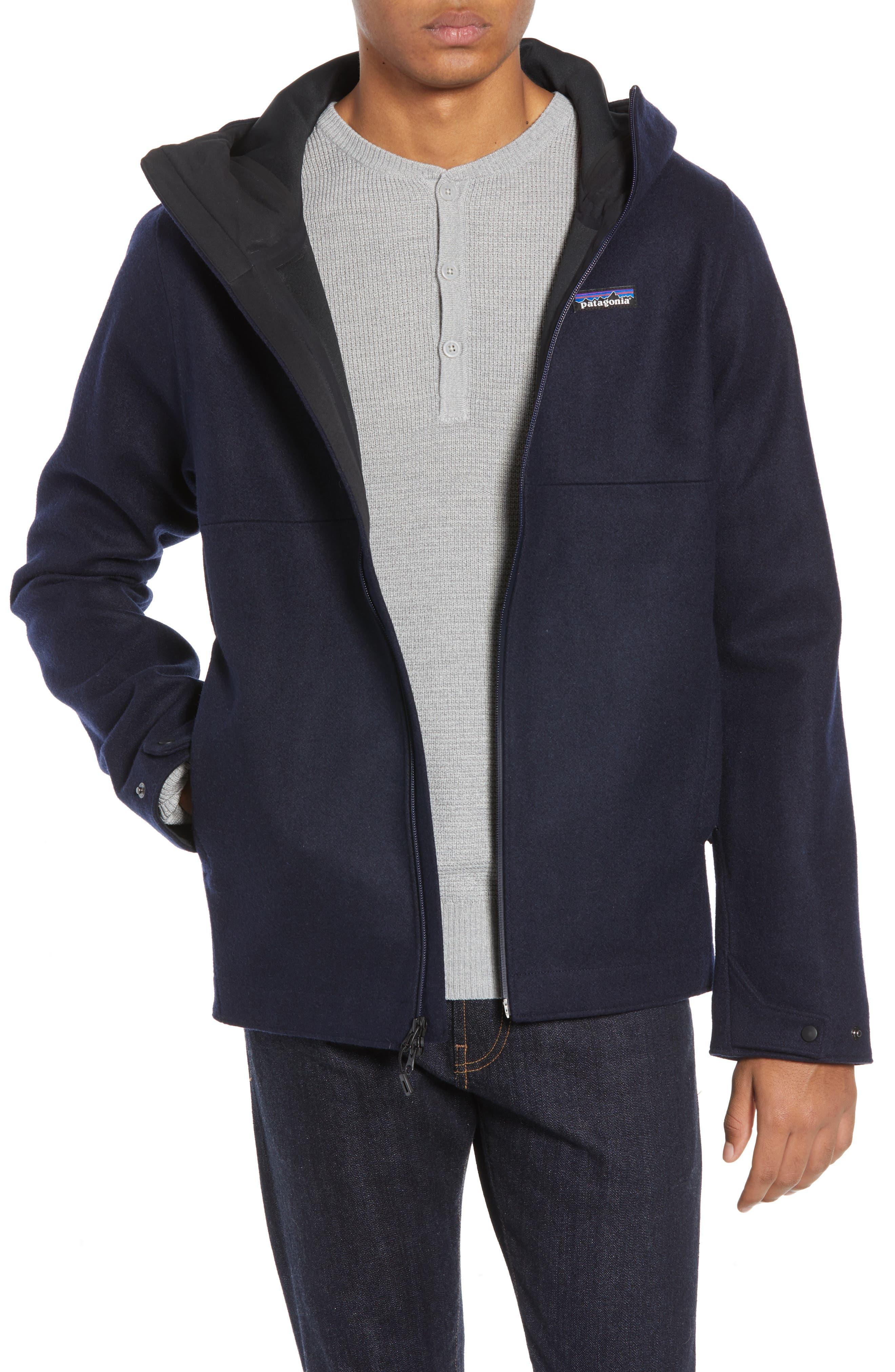 Patagonia Woolyester Hooded Jacket, Blue