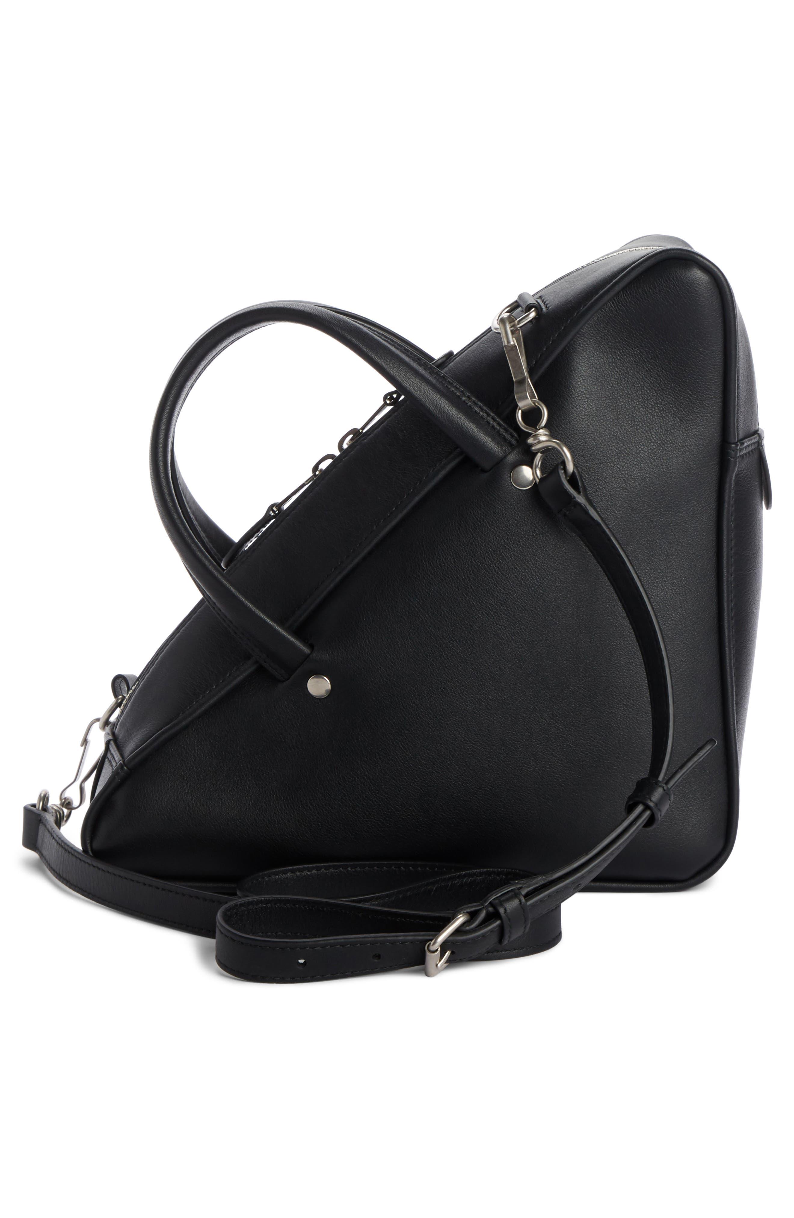 Small Triangle Duffel Bag,                             Alternate thumbnail 2, color,                             1000 NOIR