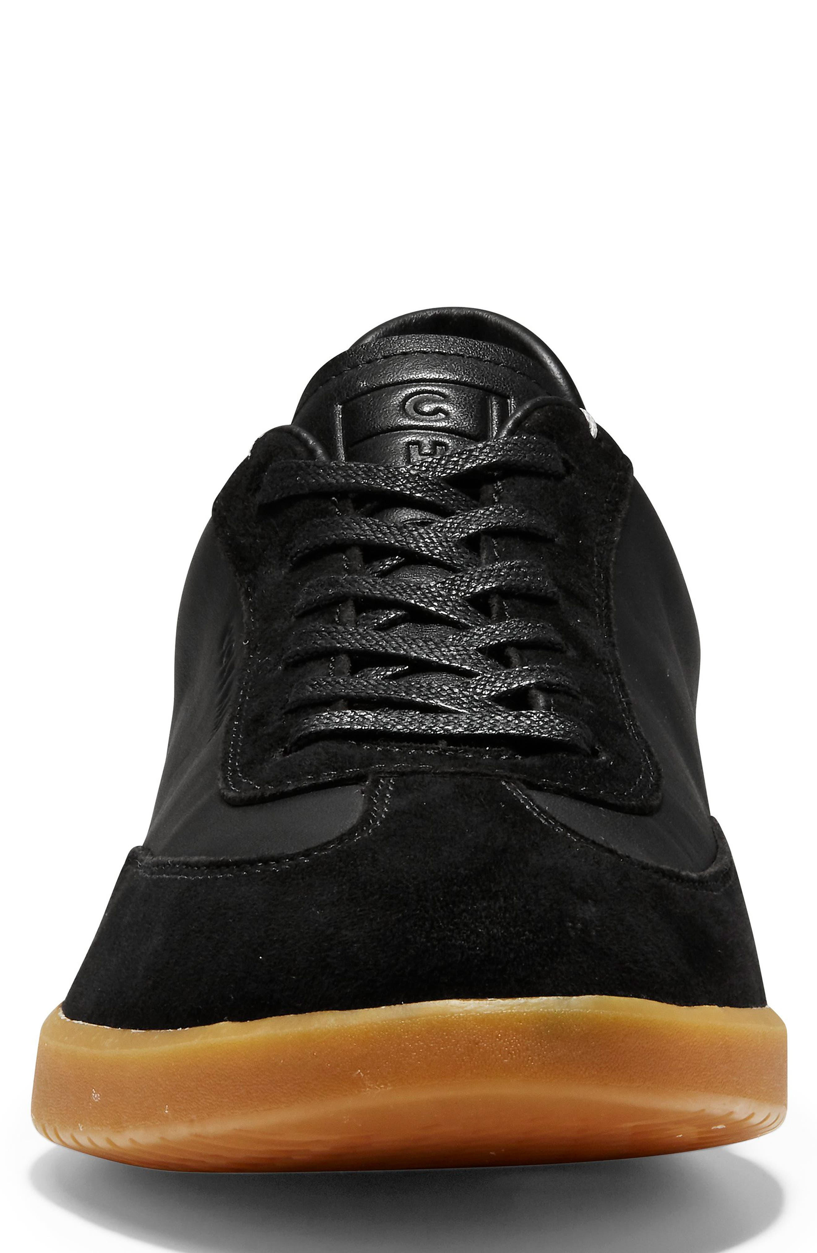 GrandPro Turf Sneaker,                             Alternate thumbnail 4, color,                             BLACK LEATHER/ SUEDE