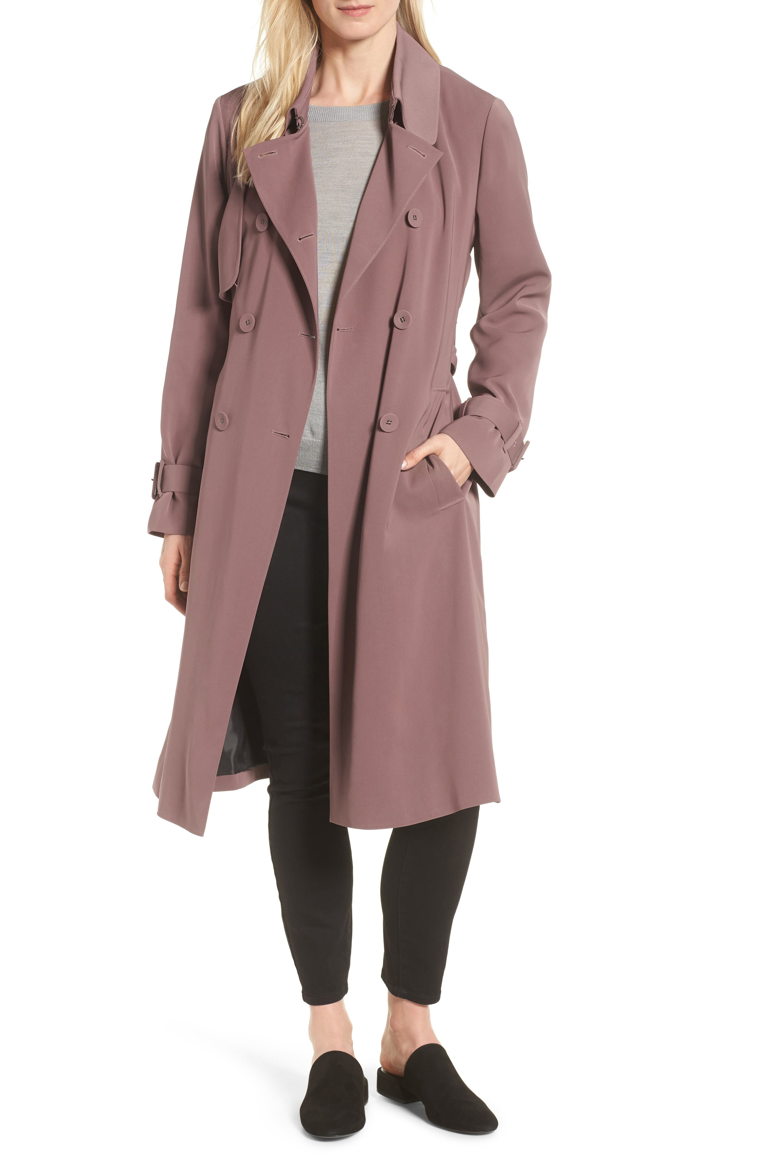 Heritage Modern Trench Coat,                         Main,                         color, ADOBE