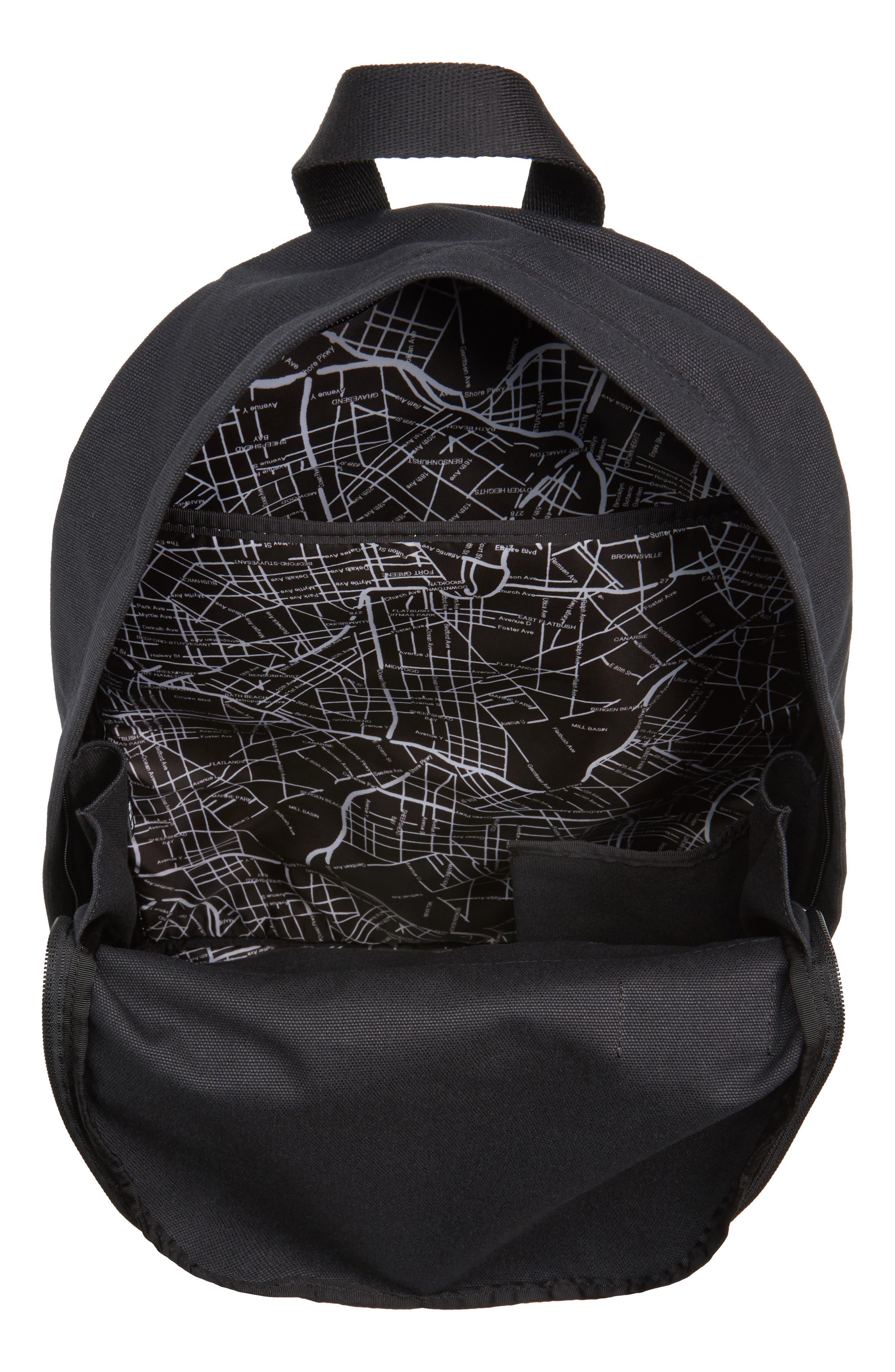 Canvas Slim Lorimer Backpack,                             Alternate thumbnail 4, color,                             001