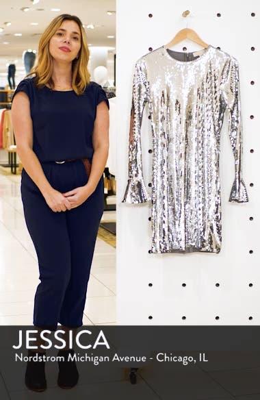 Sequin Ruffle Cuff Dress, sales video thumbnail