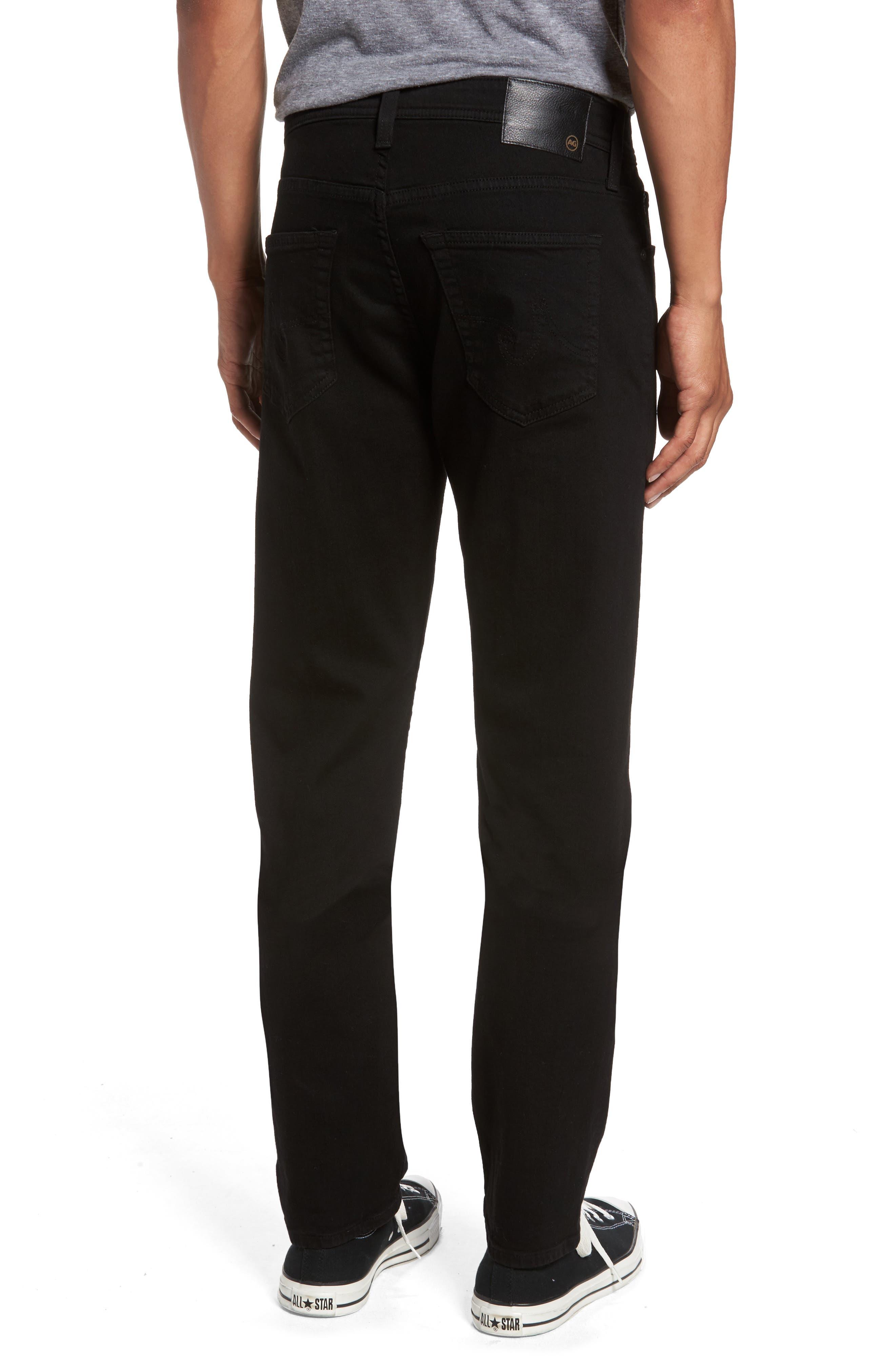 AG,                             Everett Slim Straight Fit Jeans,                             Alternate thumbnail 2, color,                             BLACK SOOT