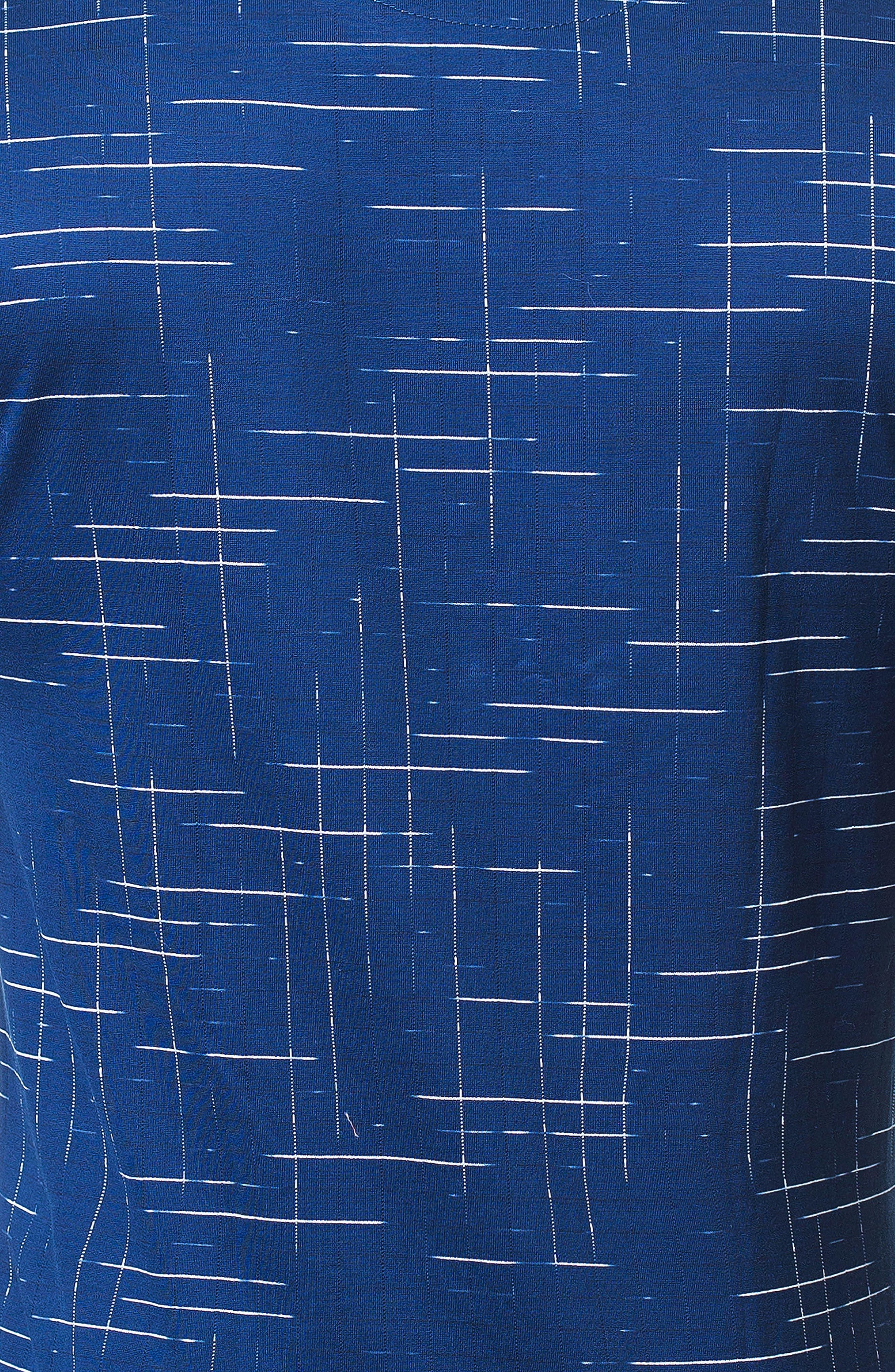 Edison Trim Fit Dash T-Shirt,                             Alternate thumbnail 3, color,                             BLUE