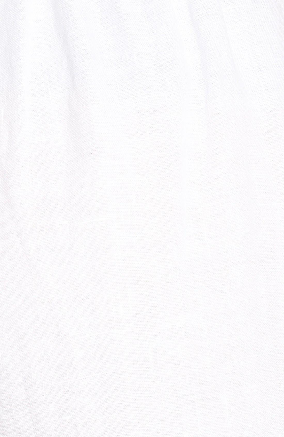 Organic Linen Crop Pants,                             Alternate thumbnail 5, color,                             100