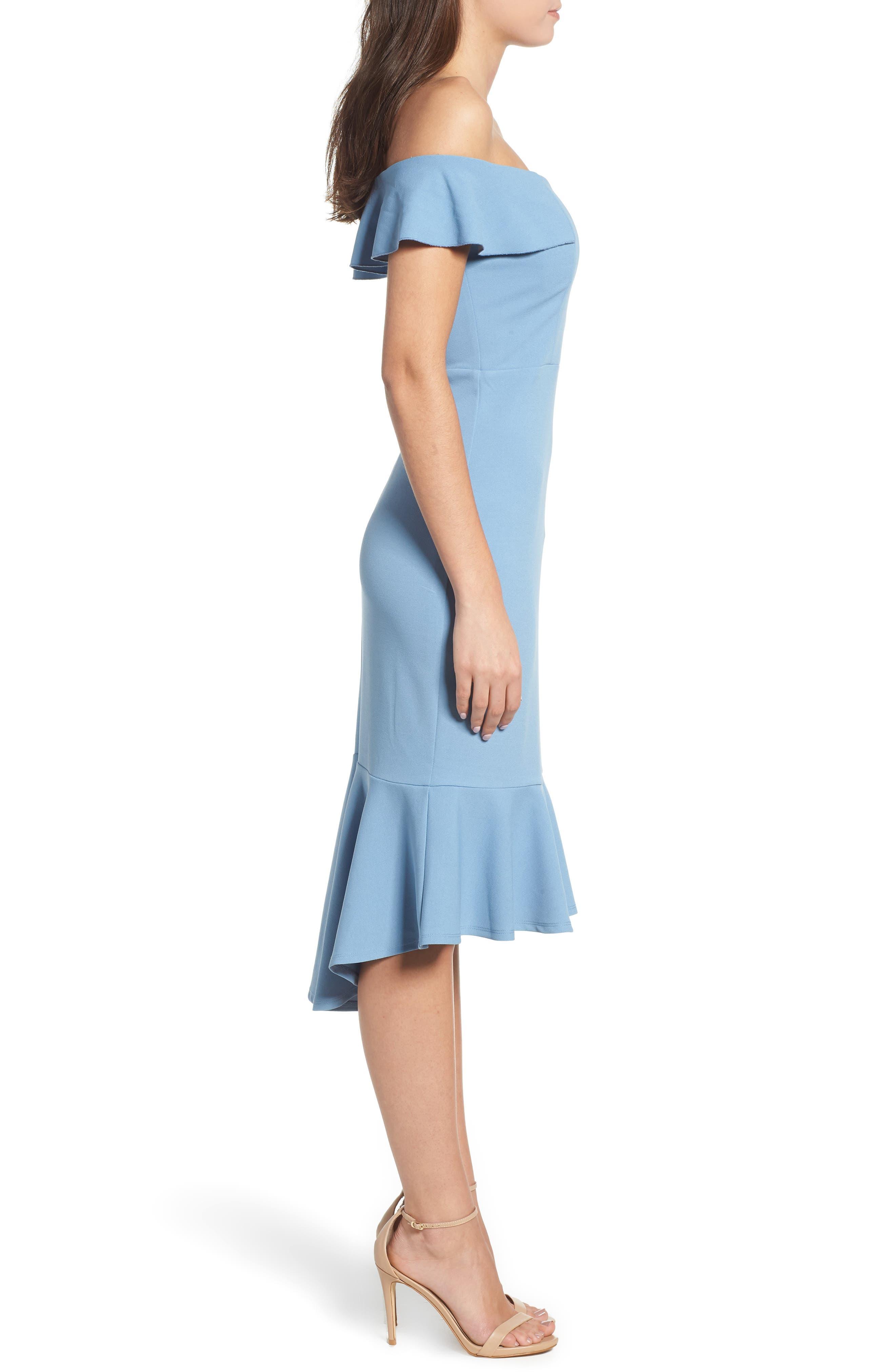 Sweetheart Midi Dress,                             Alternate thumbnail 3, color,                             400