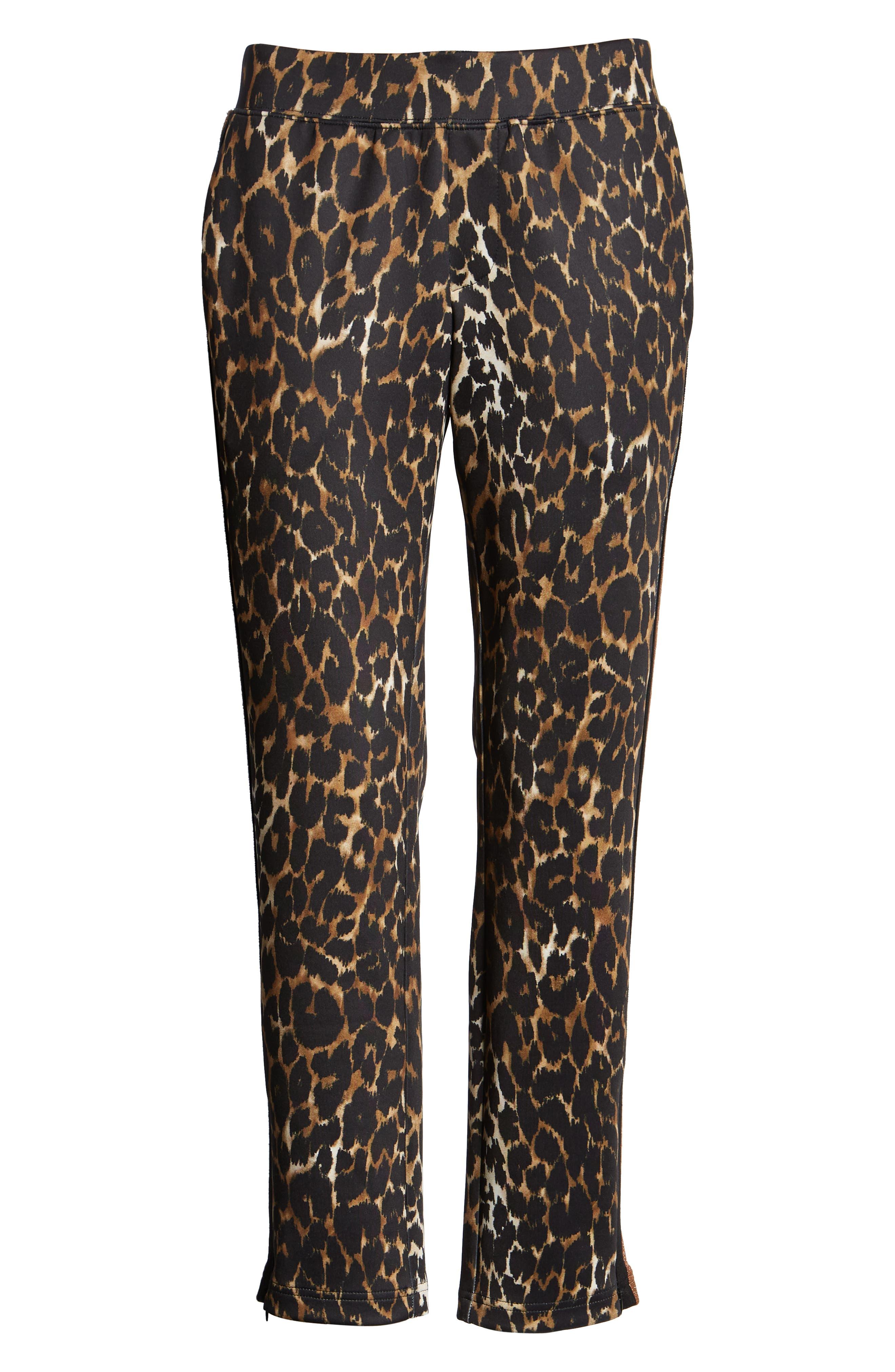 Leopard Track Pants,                             Alternate thumbnail 7, color,                             LEOPARD