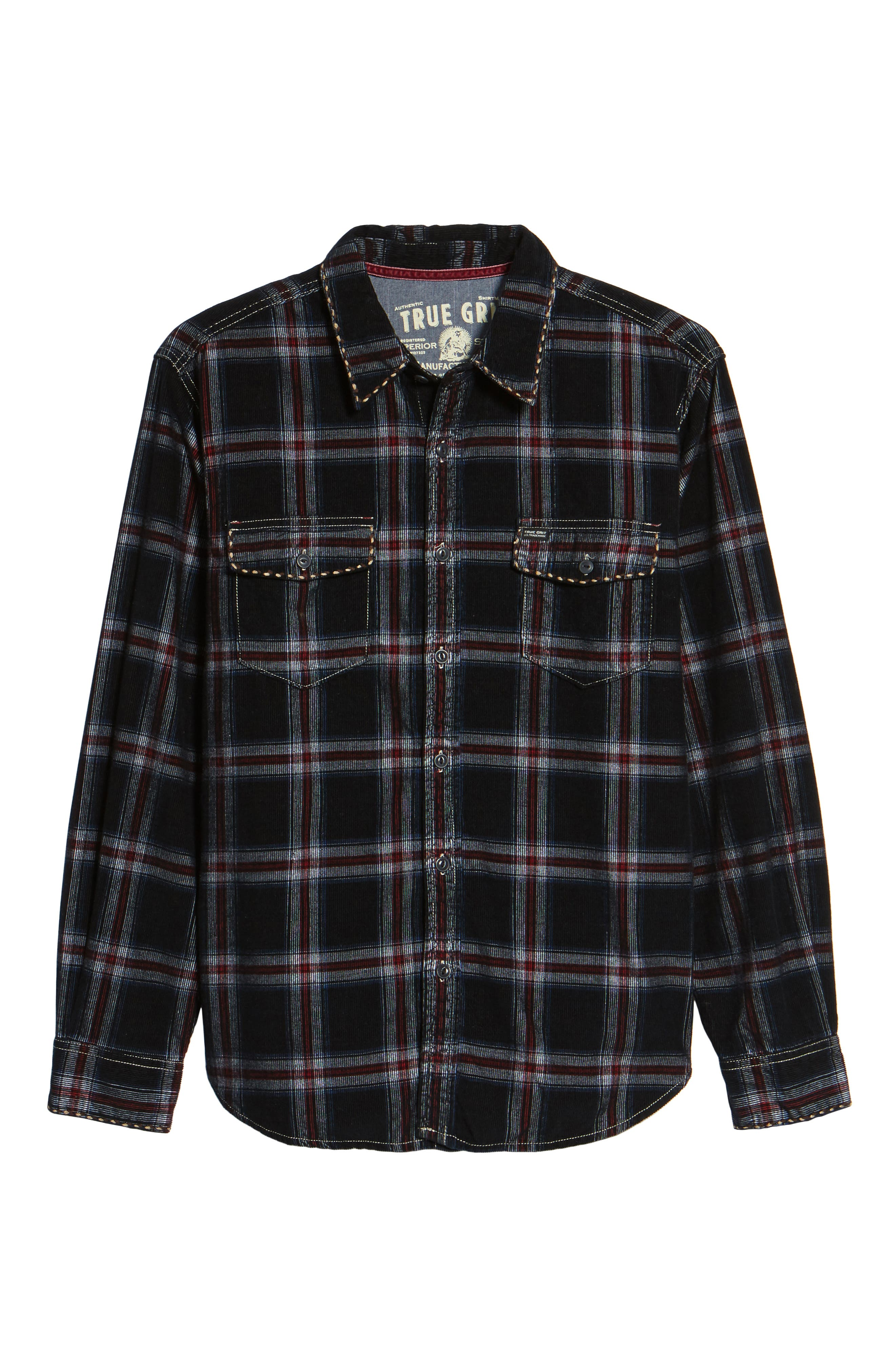 Summit Hunter Plaid Faux Shearling Lined Shirt Jacket,                             Alternate thumbnail 6, color,                             001