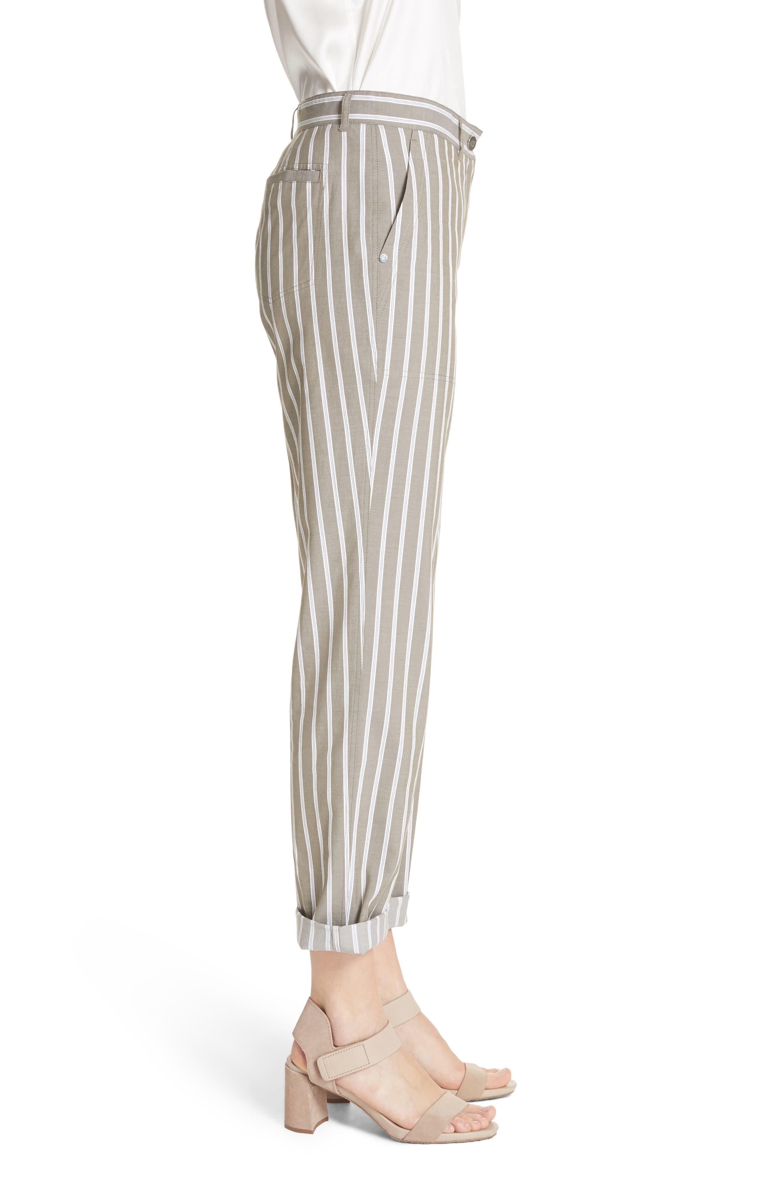 Fulton Desert Stripe Cotton & Linen Pants,                             Alternate thumbnail 3, color,