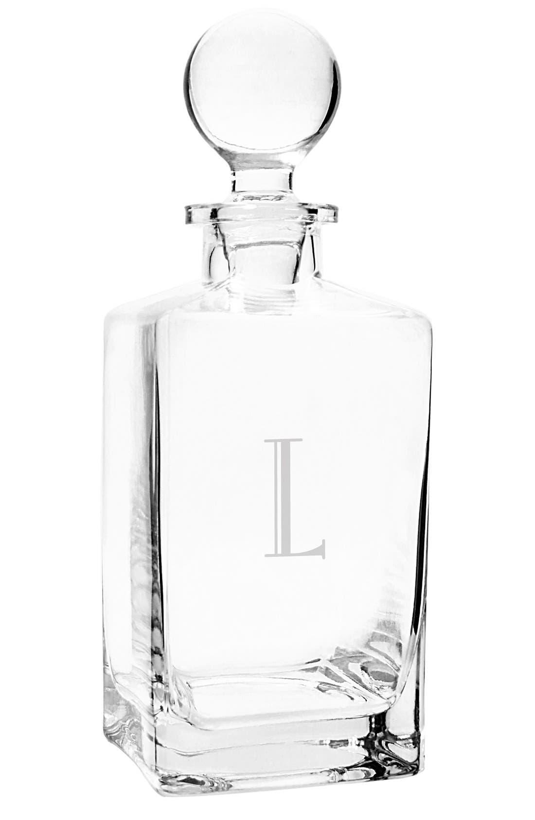 Monogram Whiskey Decanter & Stopper,                         Main,                         color, L
