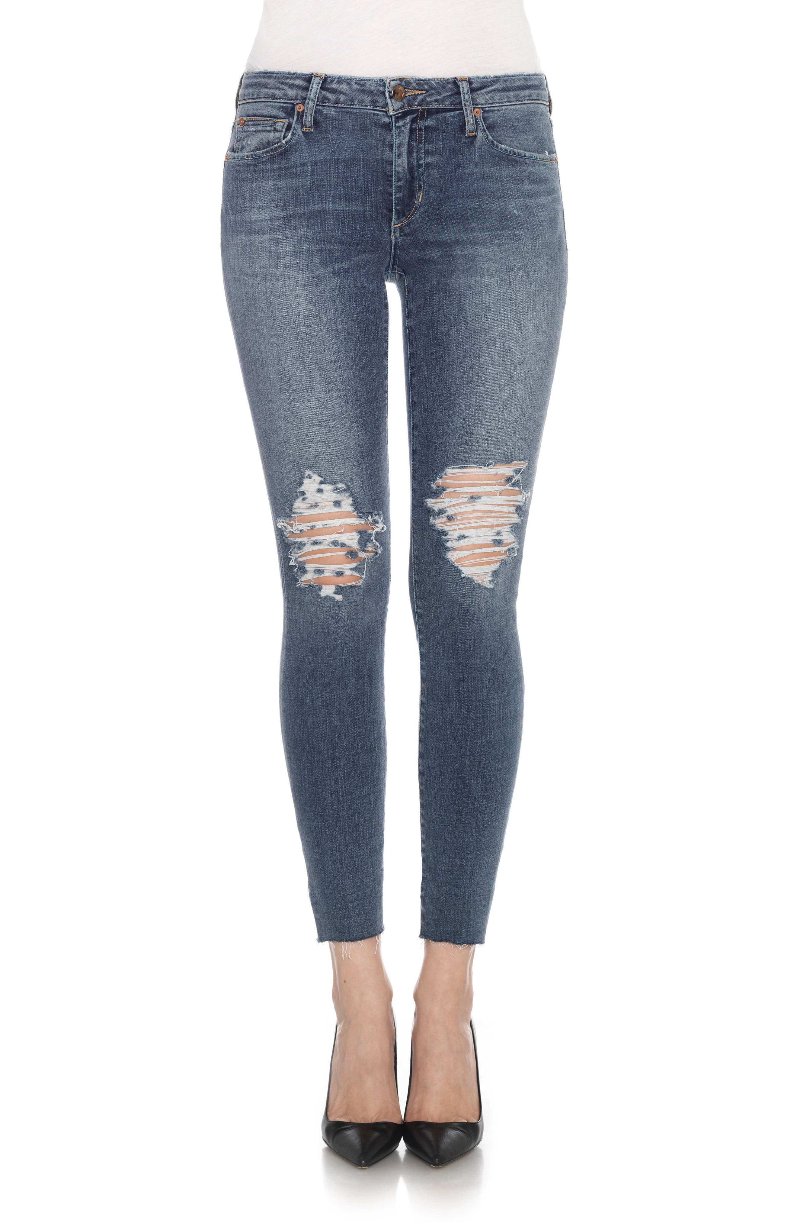 Flawless - Icon Ankle Skinny Jeans,                             Alternate thumbnail 2, color,                             401