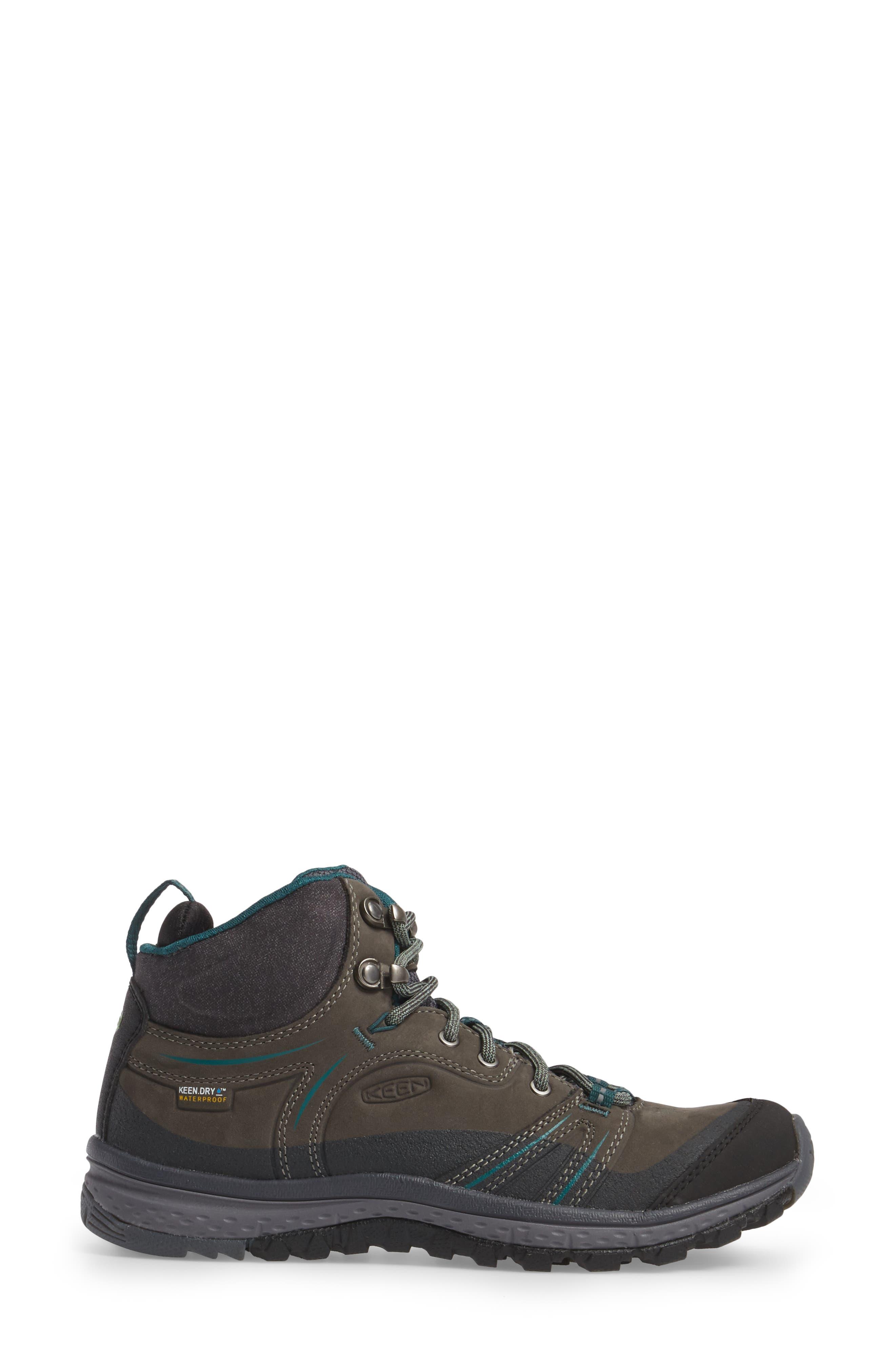 Terradora Leather Waterproof Hiking Boot,                             Alternate thumbnail 3, color,                             MUSHROOM NUBUCK LEATHER