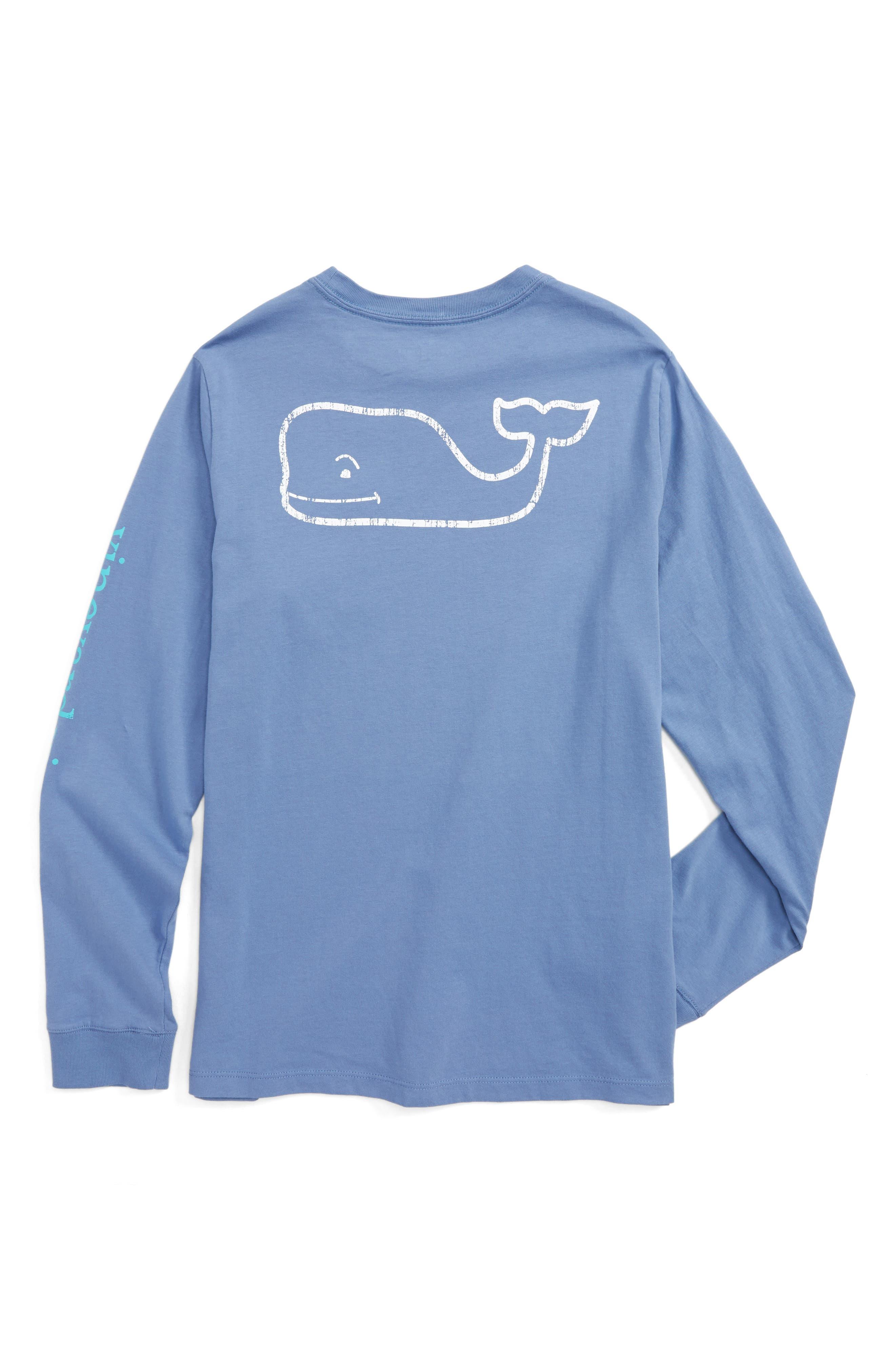 Vintage Whale Long Sleeve Pocket T-Shirt,                             Alternate thumbnail 9, color,